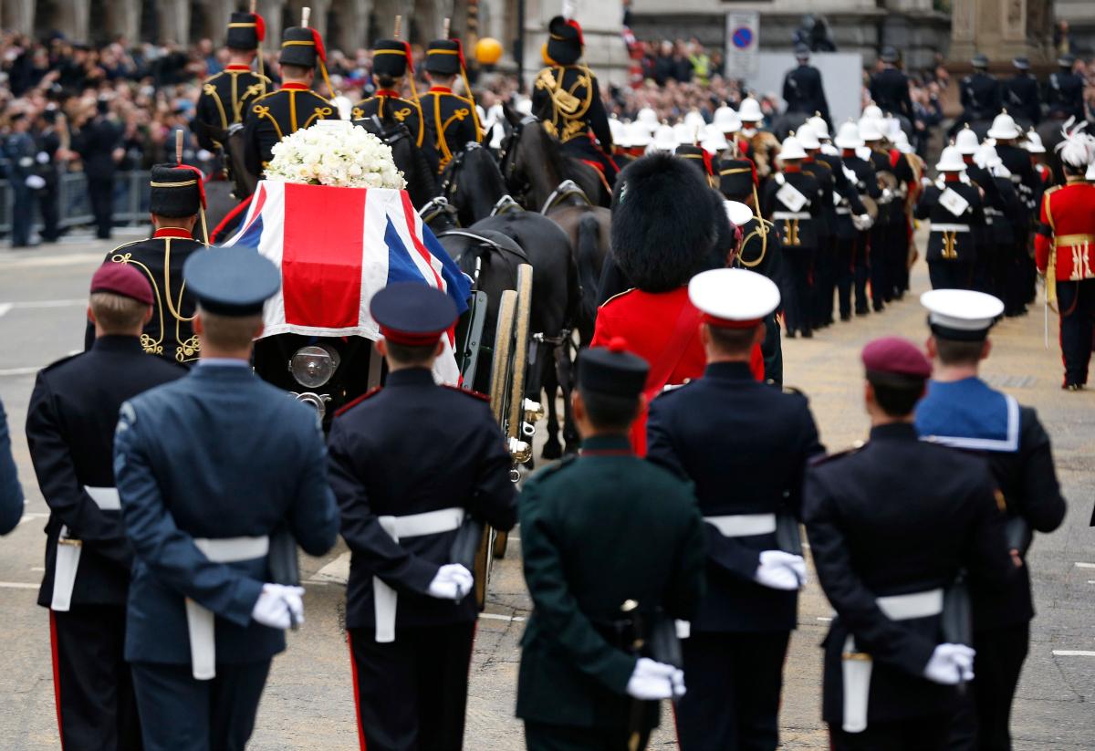 Margaret Thatcher's Funeral - Guards