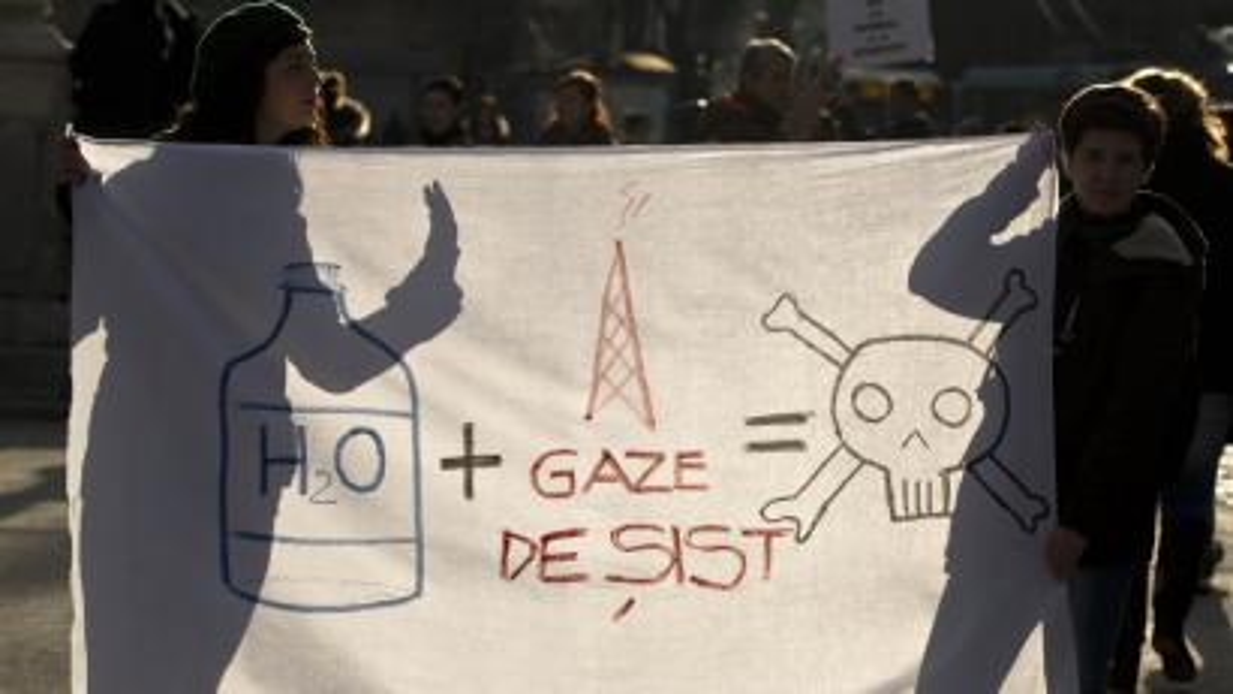 romania fracking protest