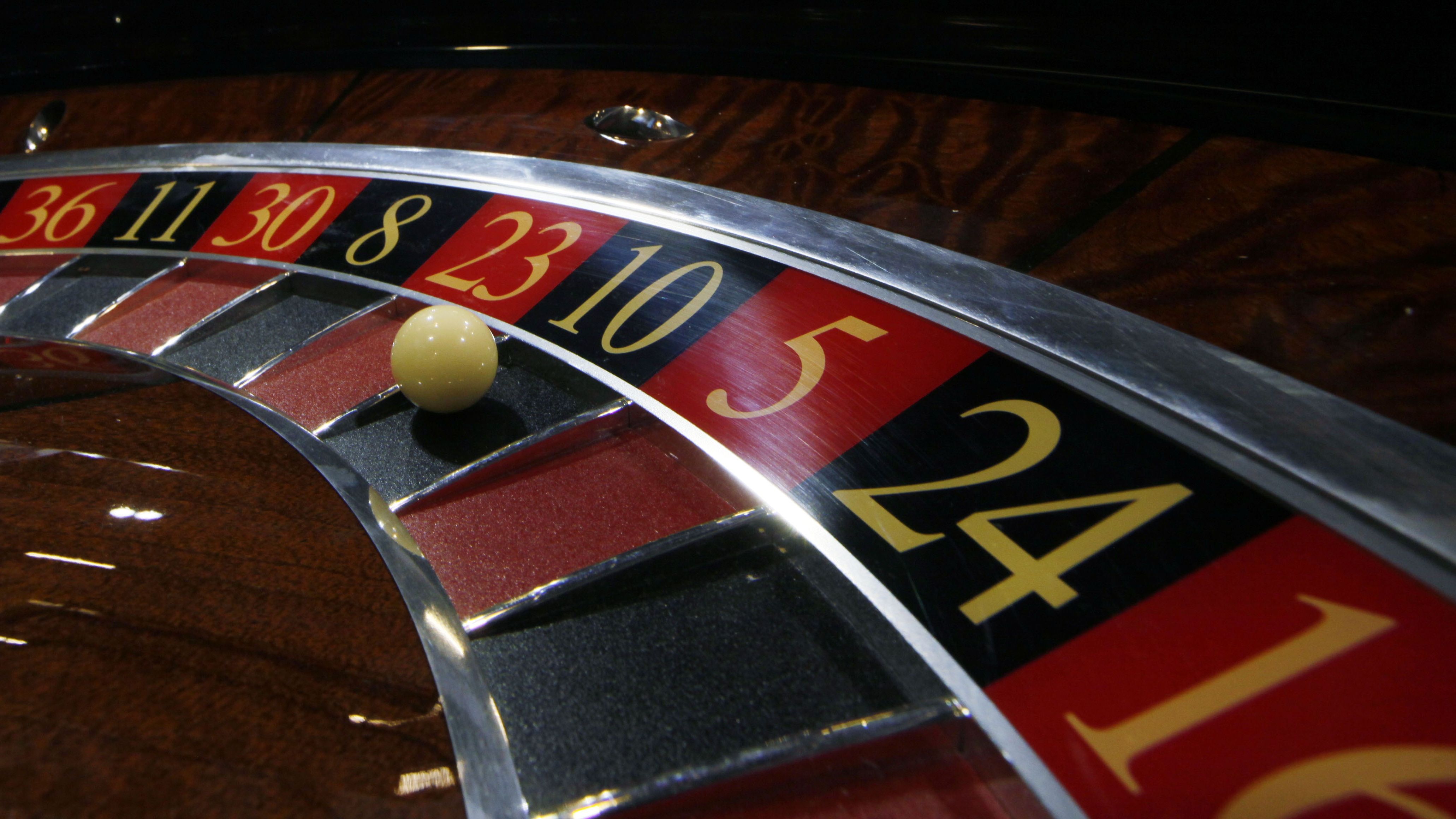 A roulette is displayed during Gaming Expo Asia in Macau Tuesday, May 22, 2012. The event features trade show and conference for Asian gaming market, starting May 22 through May 24. (AP Photo/Kin Cheung)