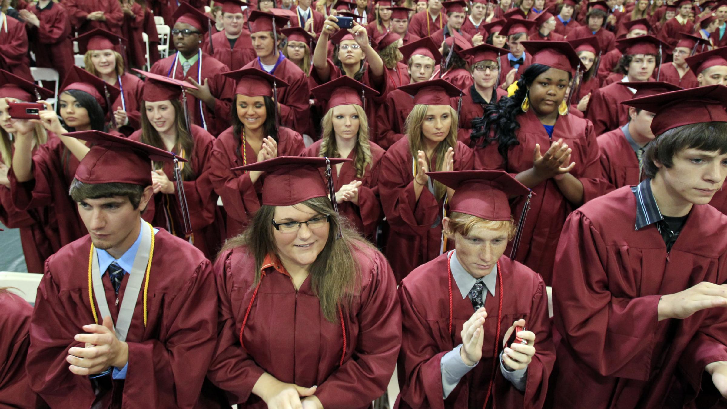 Graduates await words of wisdom
