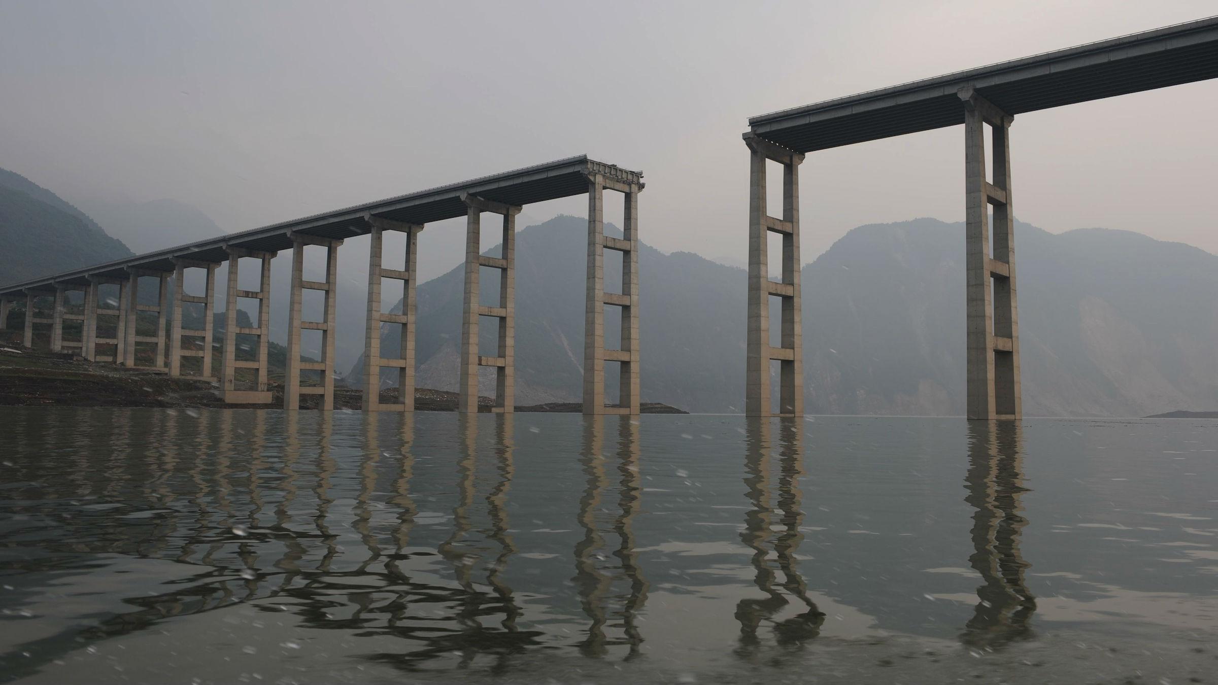 Zipingpu dam highway web