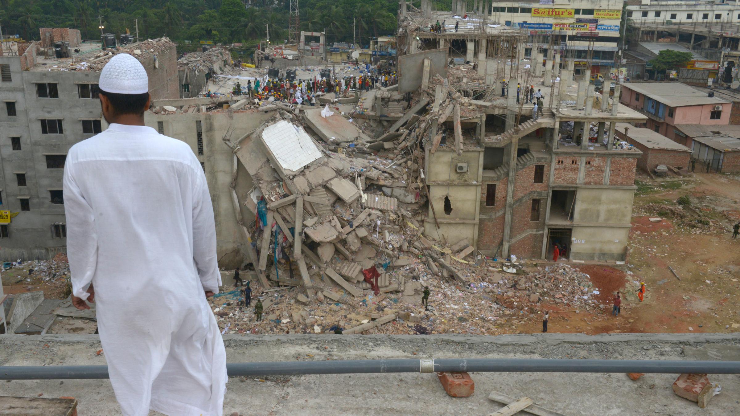 Bangladesh factory ruins