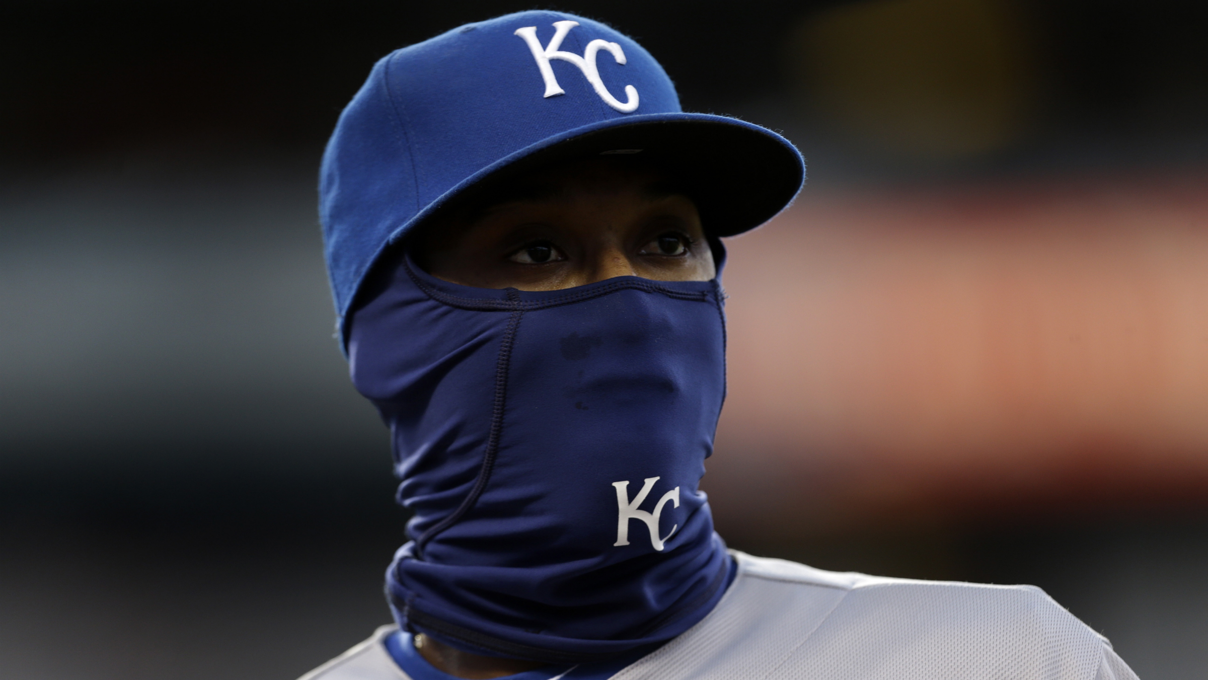So cold, even the baseball players wear ski masks.