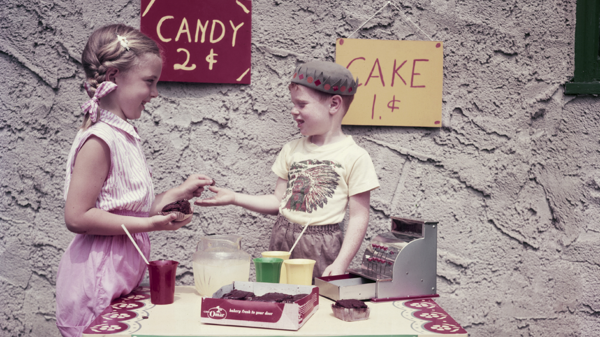 Candy and lemonade stand