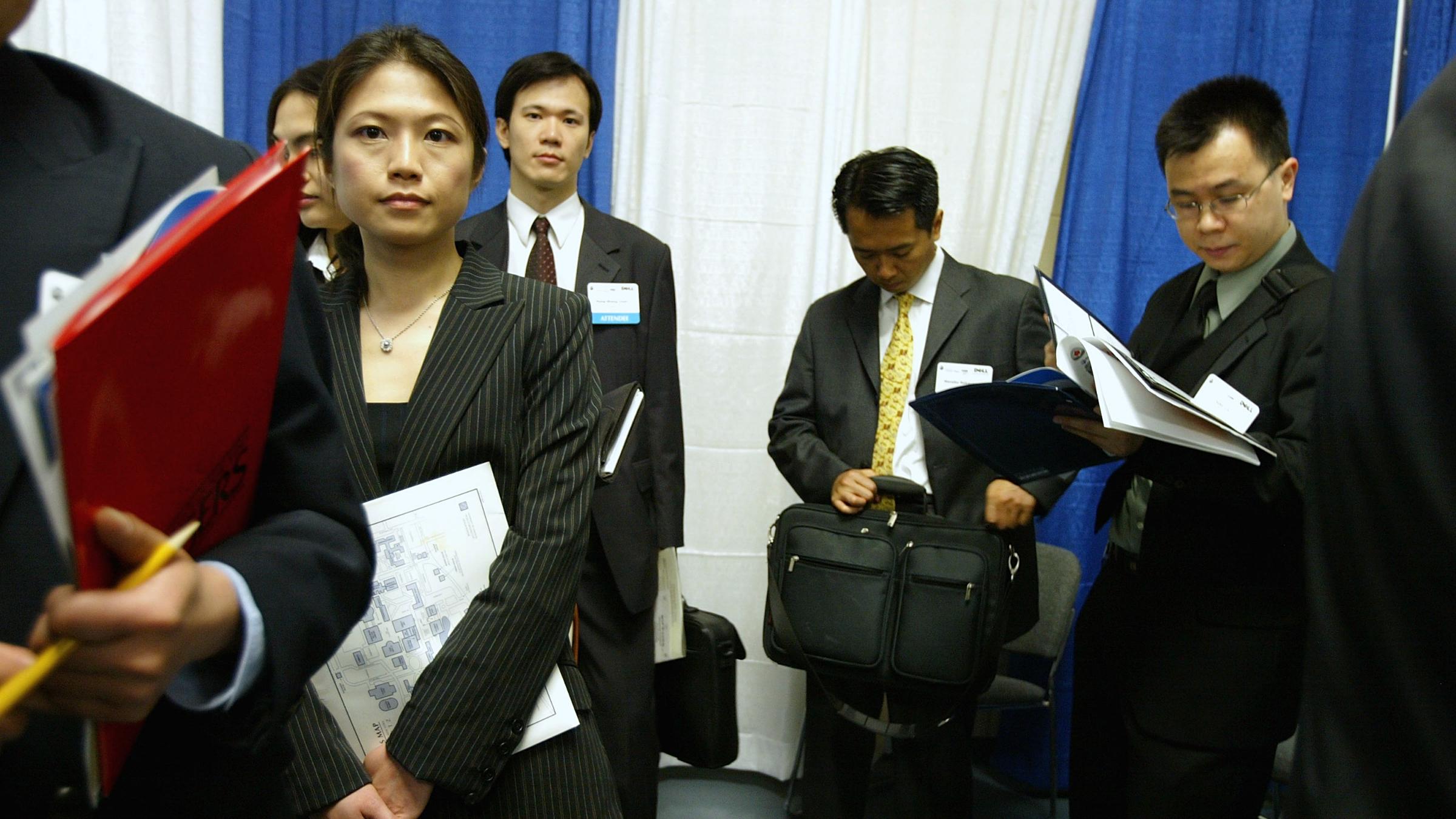 Job applicants at Asian Diversity Career Expo