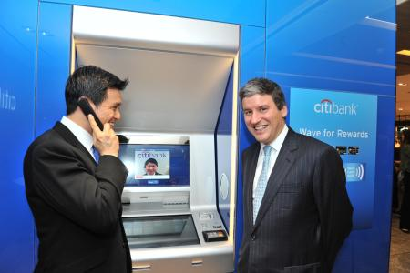 Citibank's new smart banking ATM.
