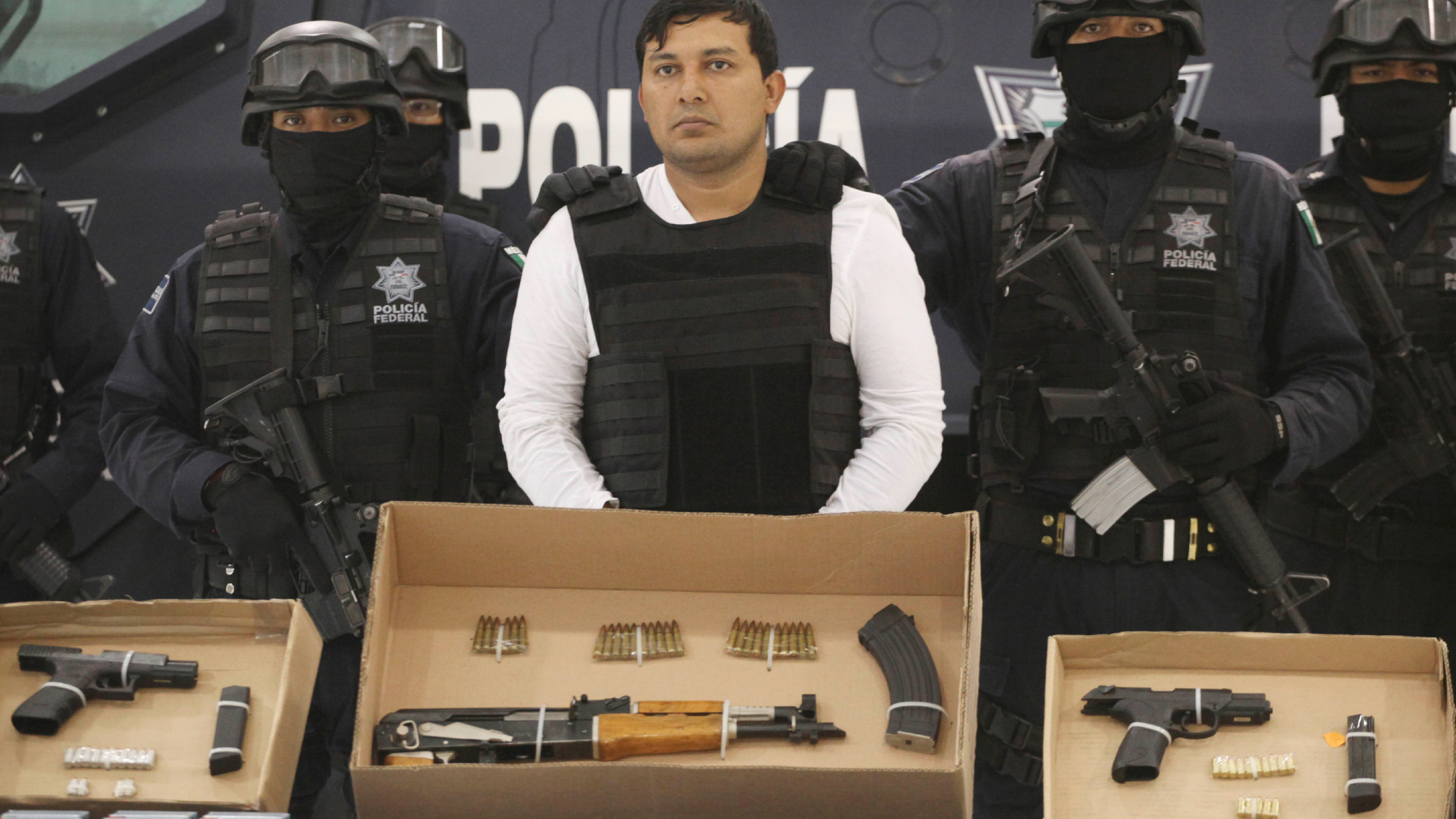Confiscated weapons from drug wars