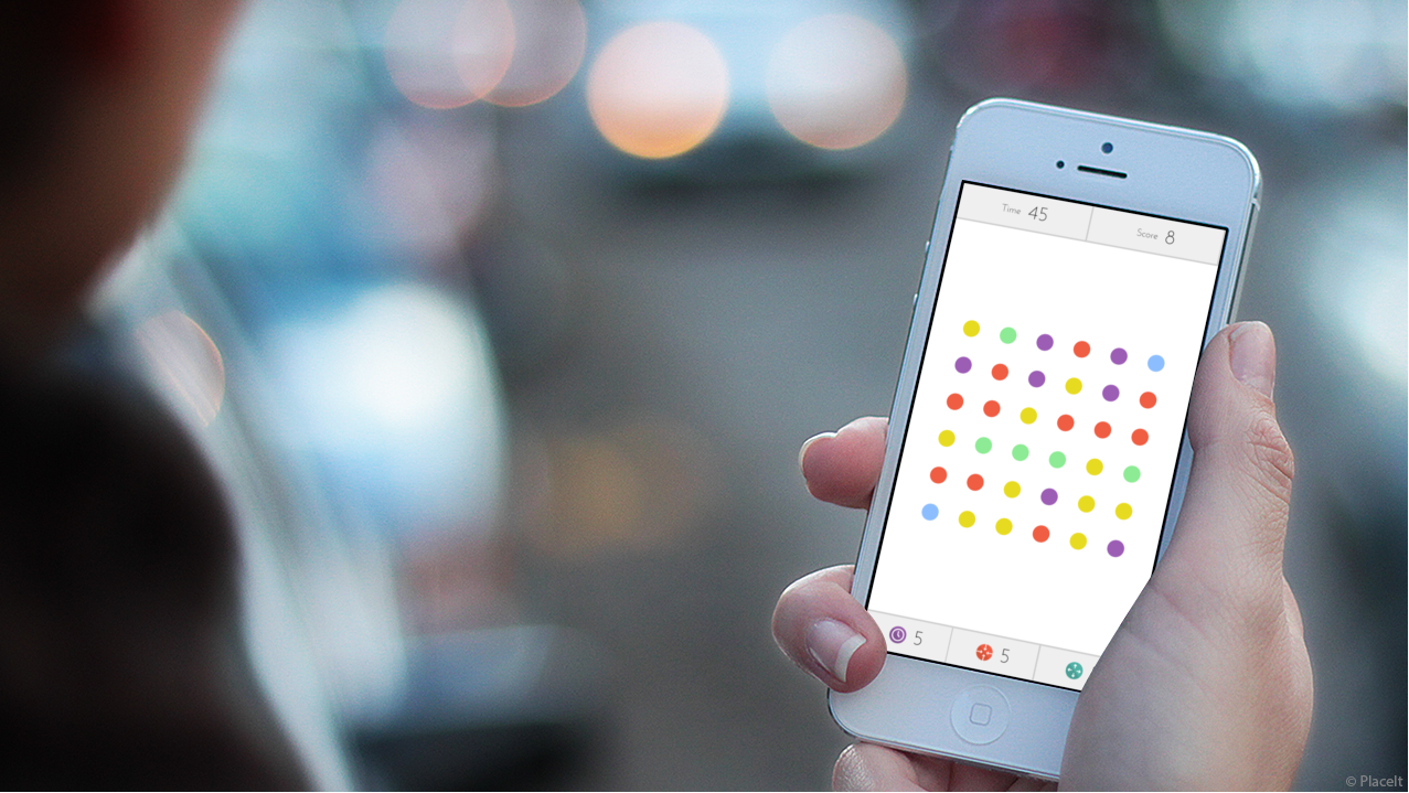 Dots, the iPhone game.