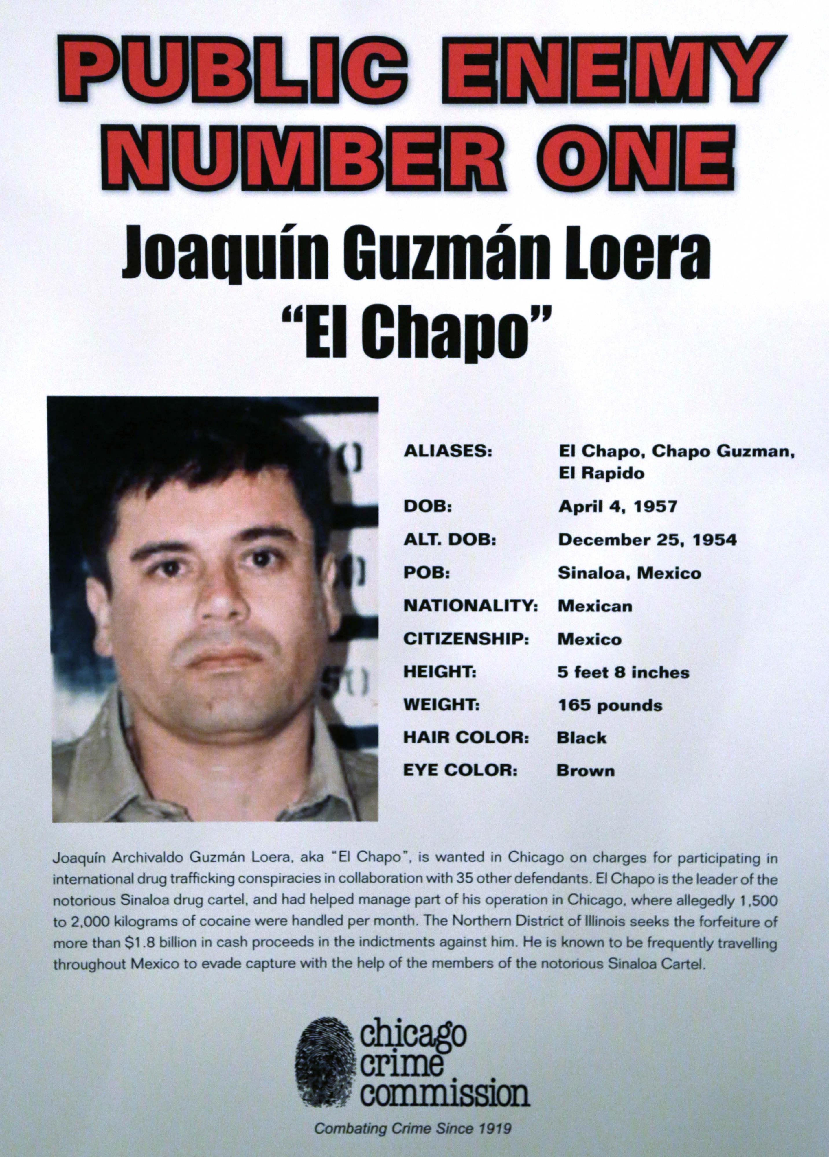 Joaquin ``El Chapo'' Guzman, a drug kingpin in Mexico