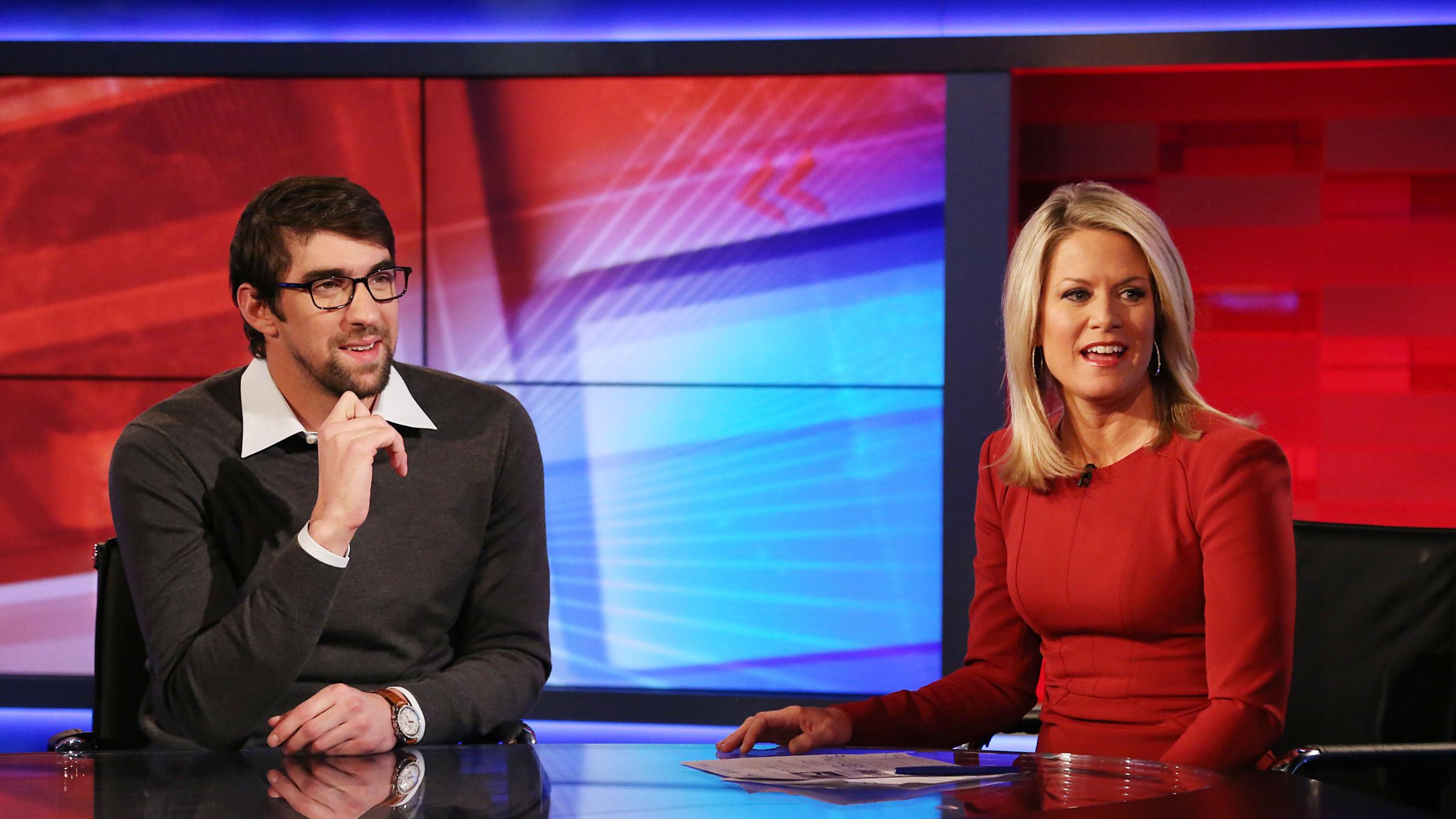 FOX News's Martha MacCallum with Michael Phelps Martha MacCallum