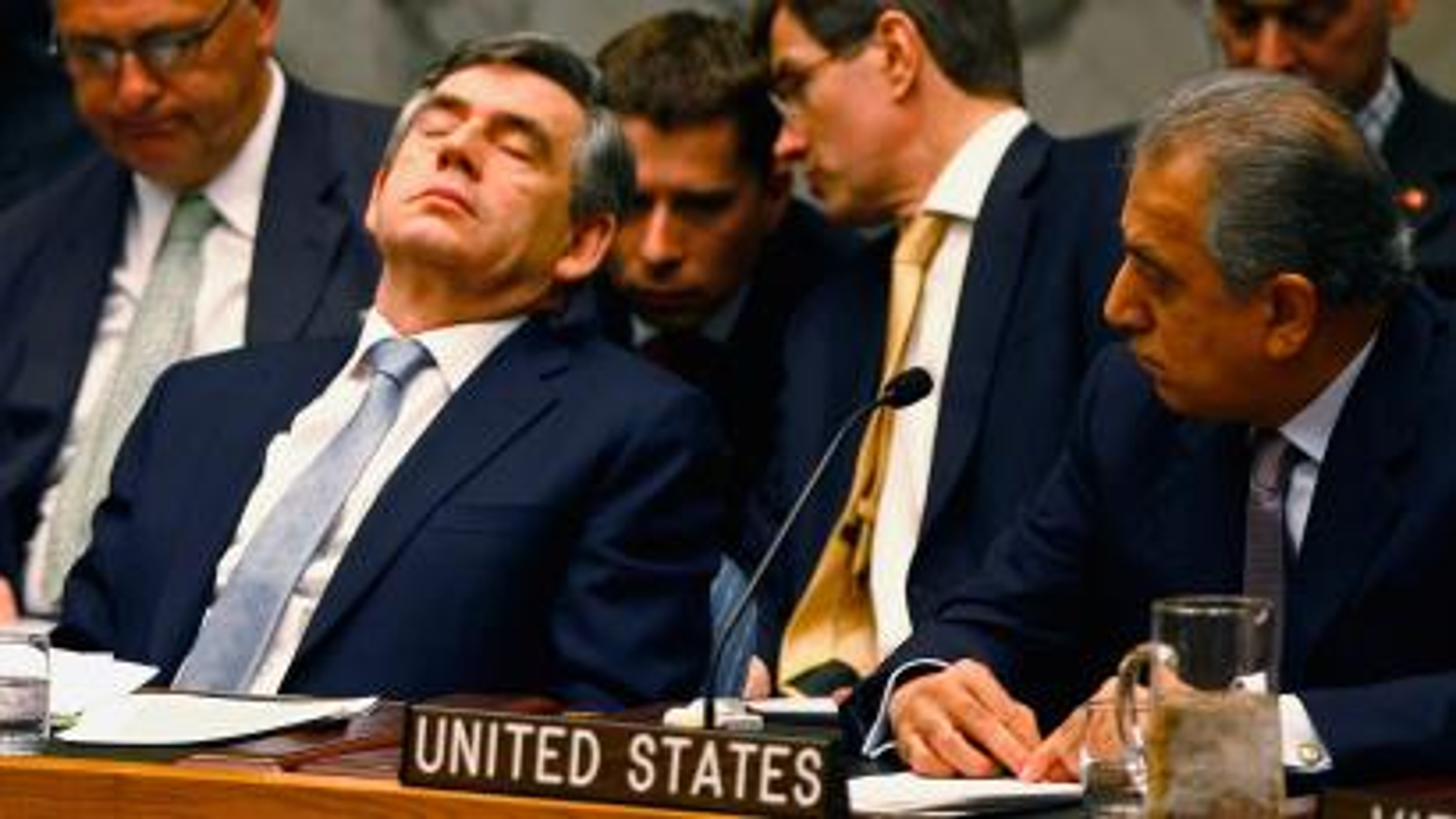 Gordon Brown sleeping