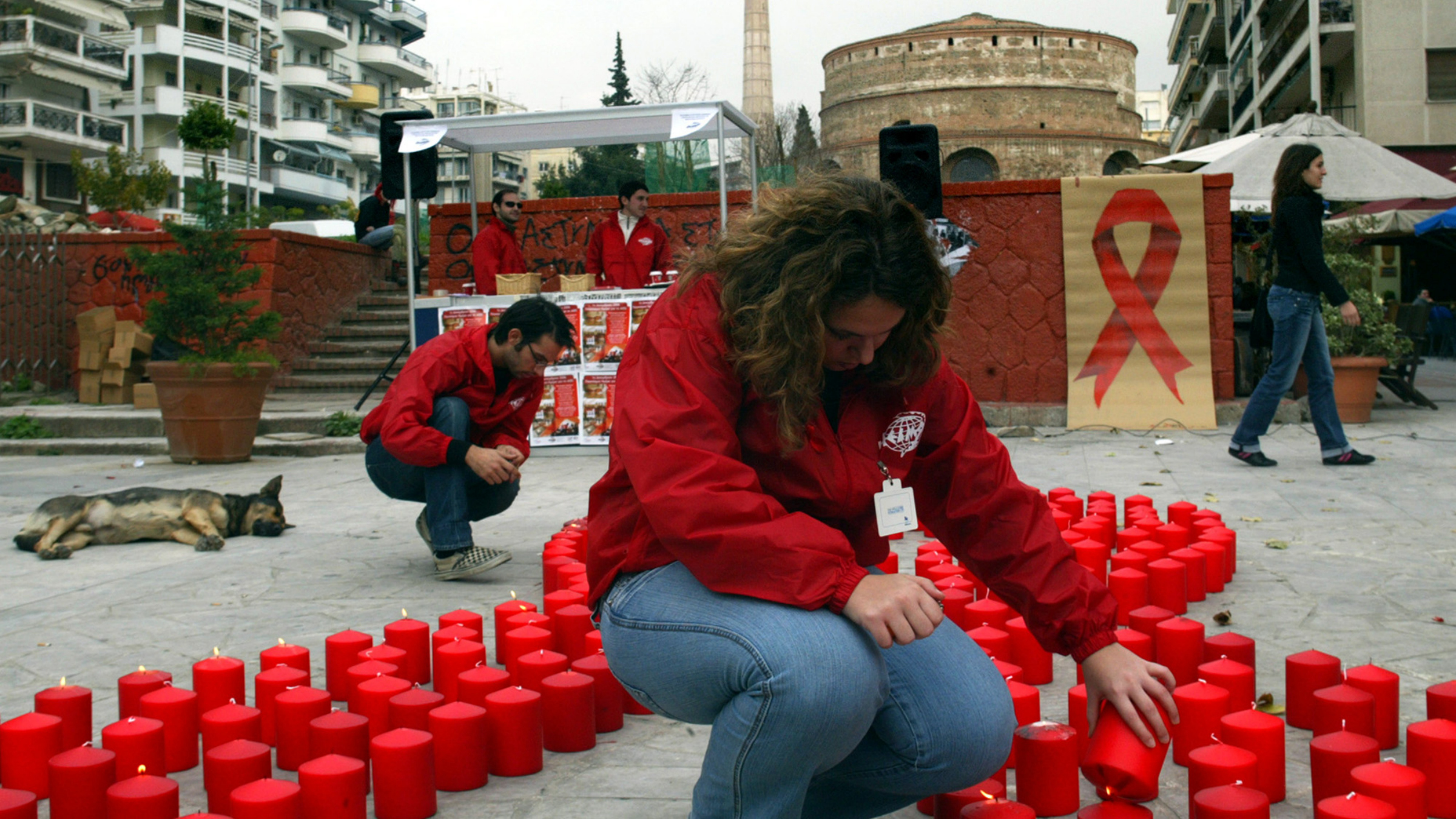 Greece world aids day