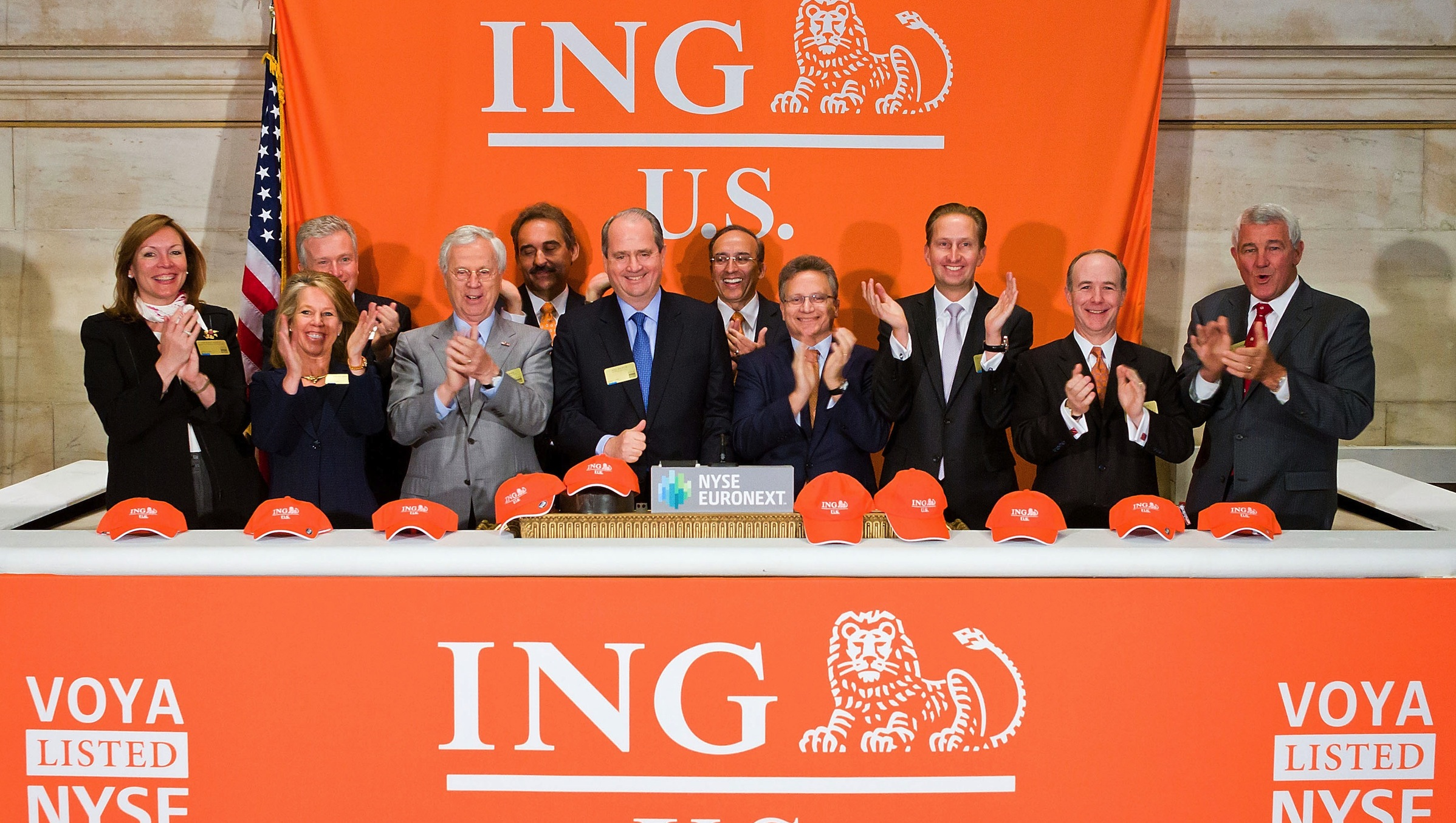 NEW YORK, NY – MAY 2:  Rodney O. Martin, Jr.  Chairman and CEO of ING U.S. rings the Opening Bell in celebration of their IPO at the New York Stock Exchange on May 2, 2013 in New York City.  (Photo by Ben Hider/NYSE Euronext)