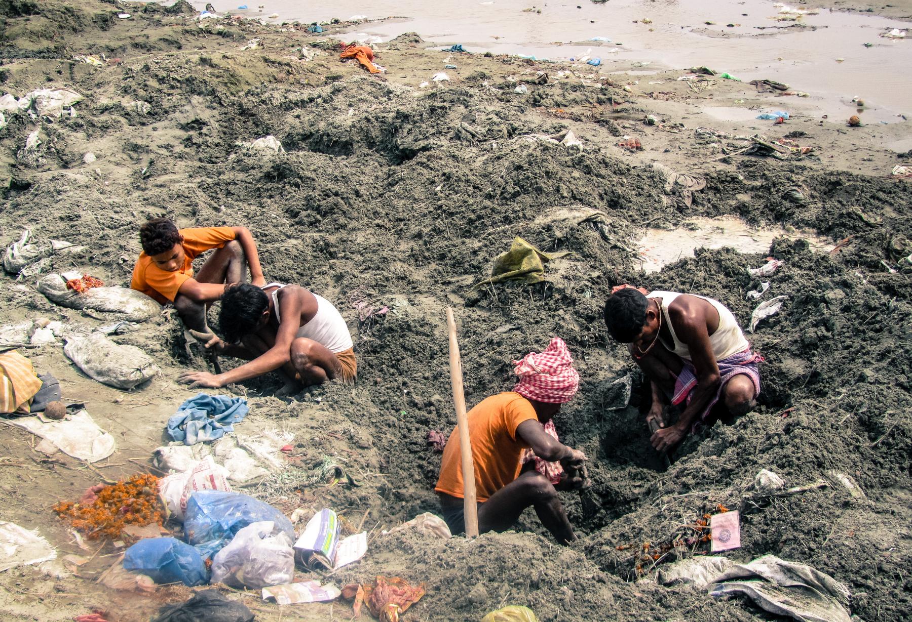 Kumbh Mela leftover waste