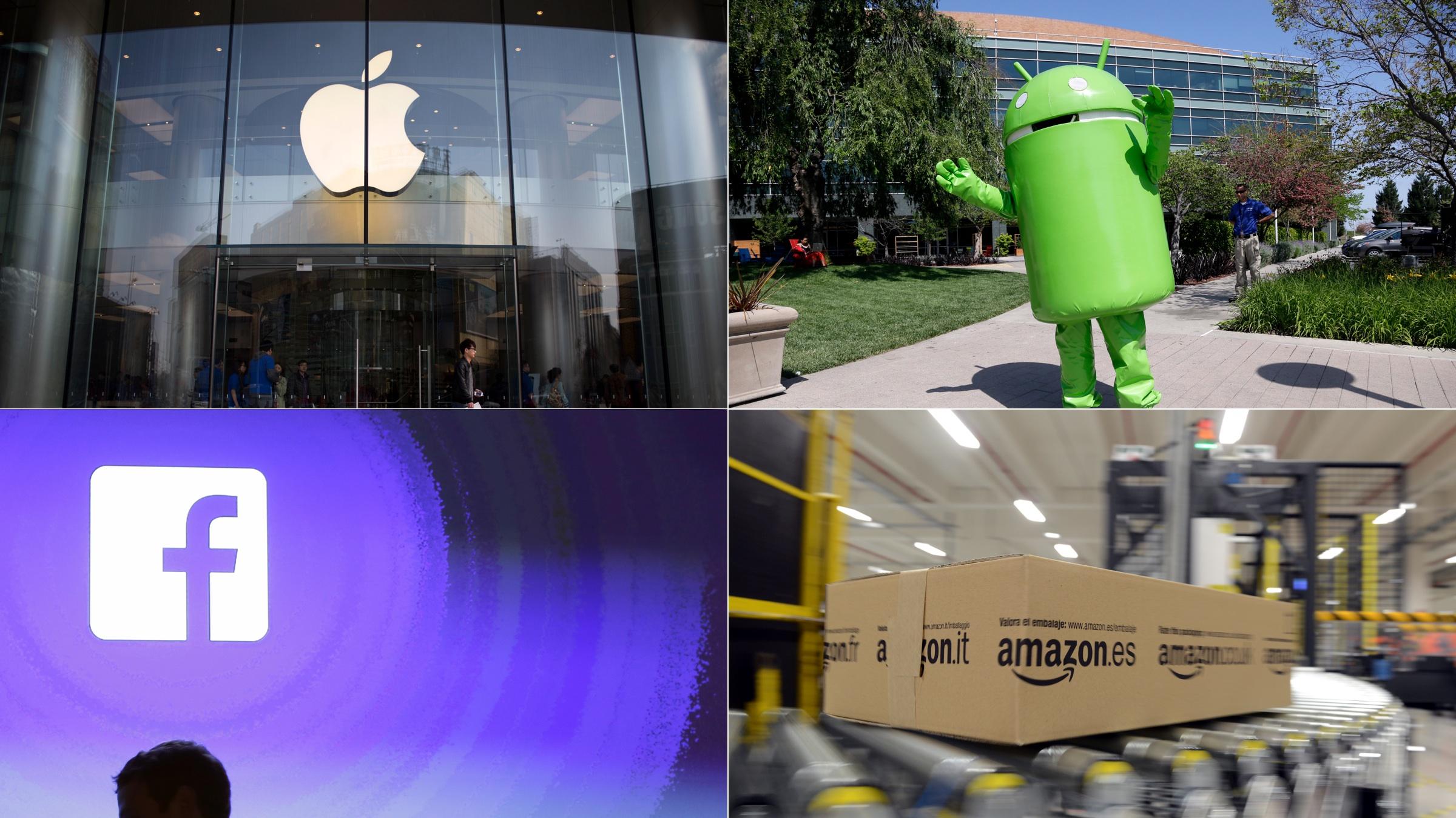 apple, amazon, google, facebook