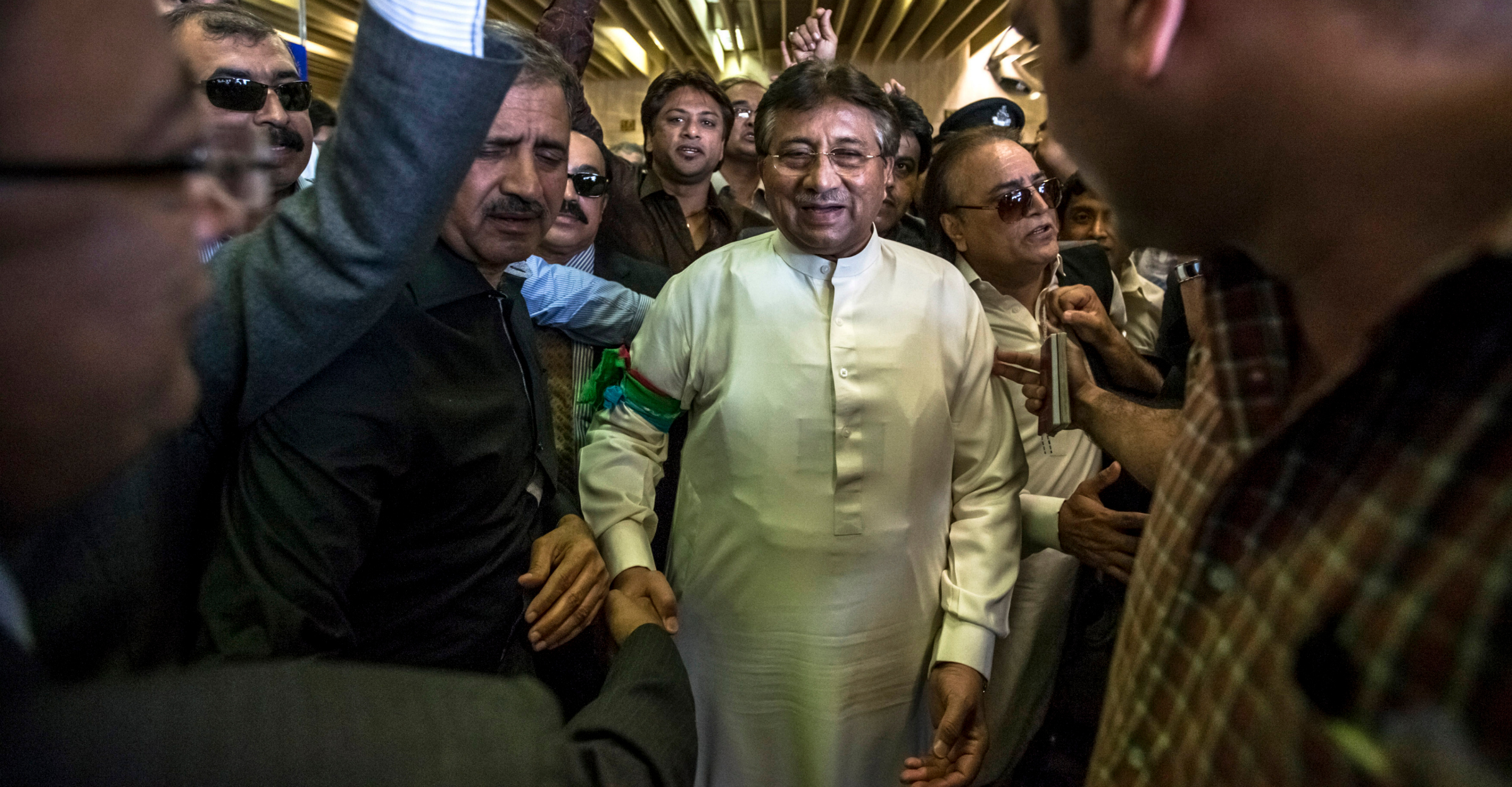 Former Pakistani president, Pervez Musharraf
