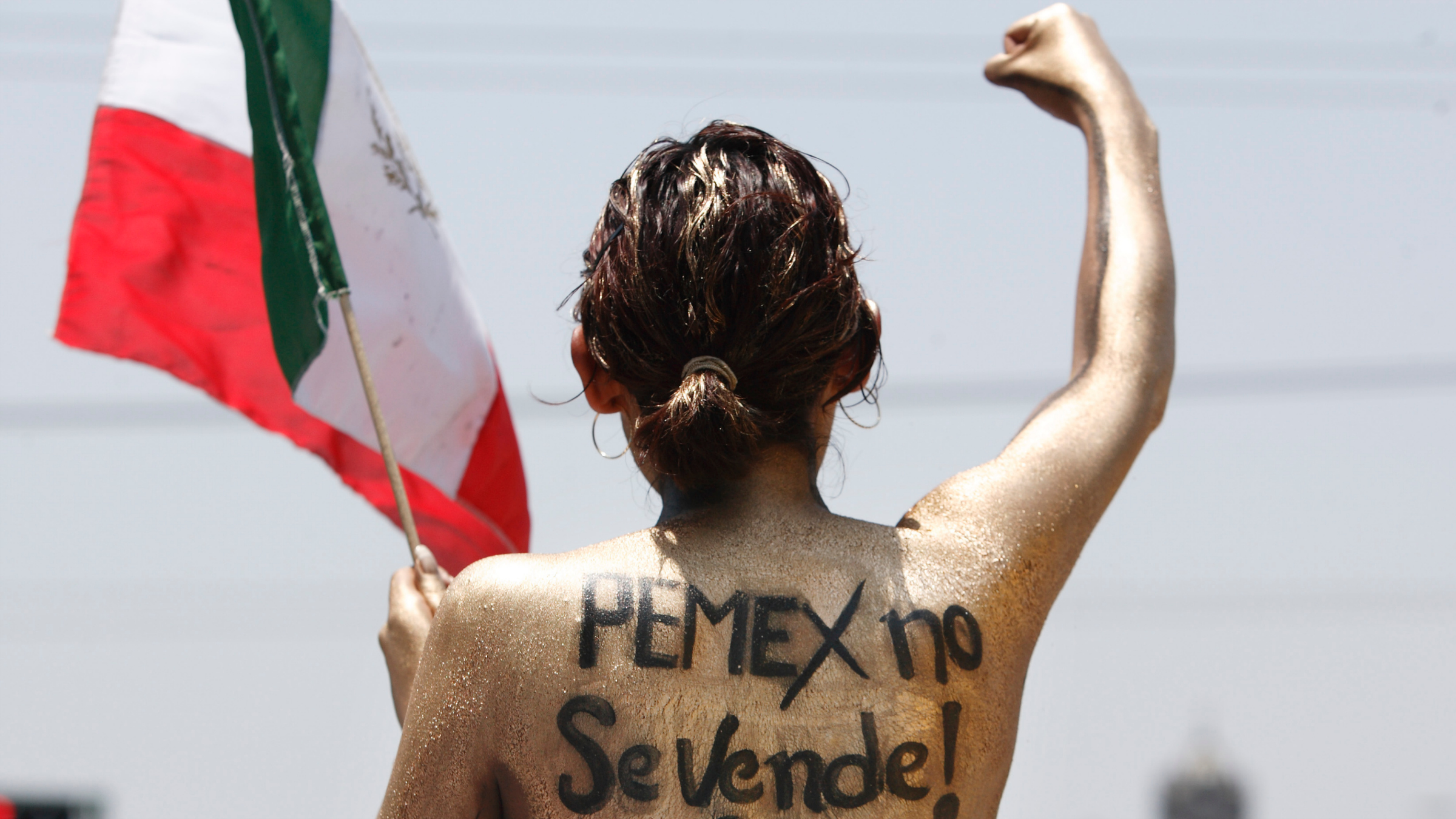 PEMEX protestor