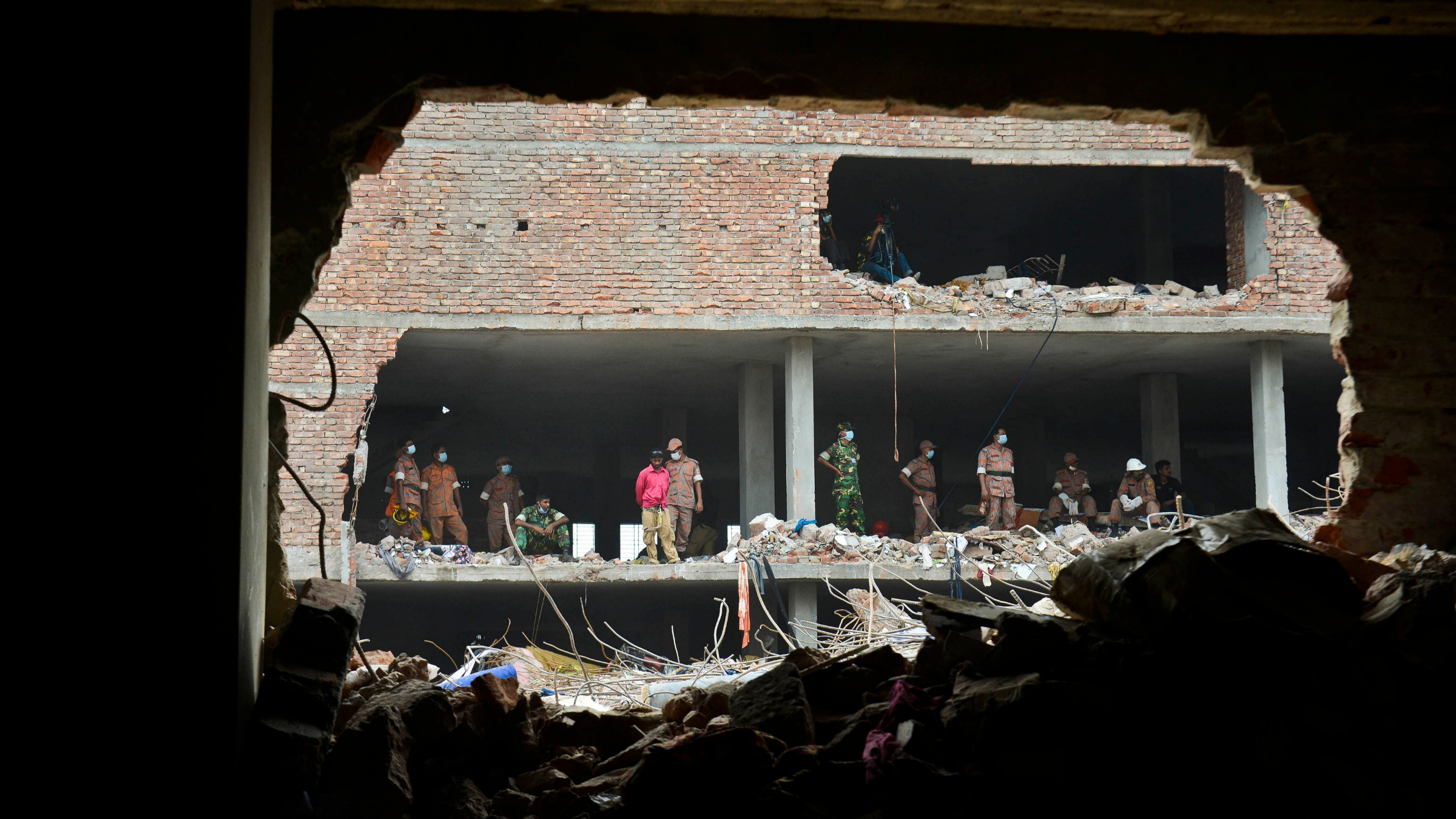 Rubble left over from Bangladesh factory explosions2