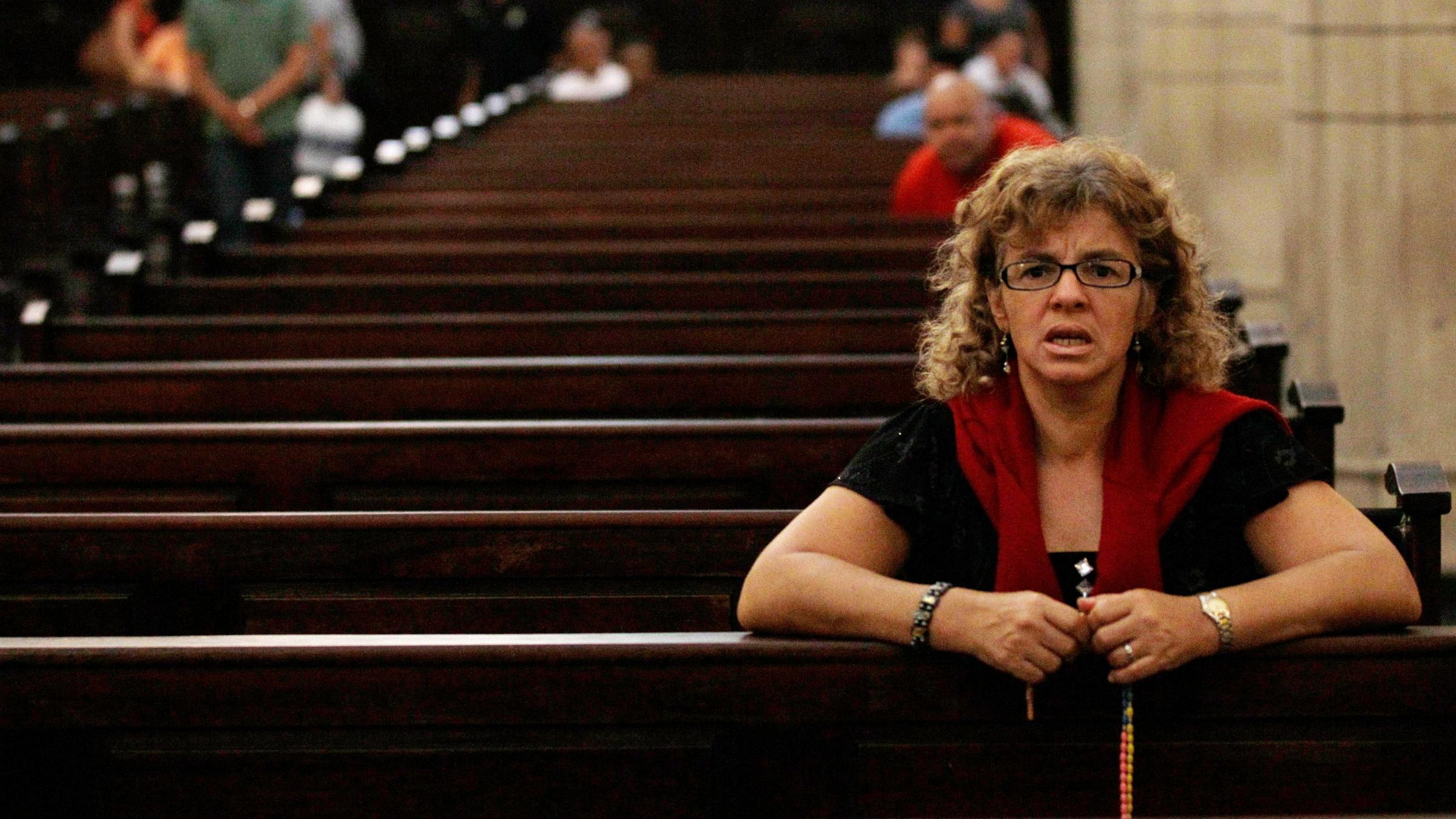 Venezuelan church goer