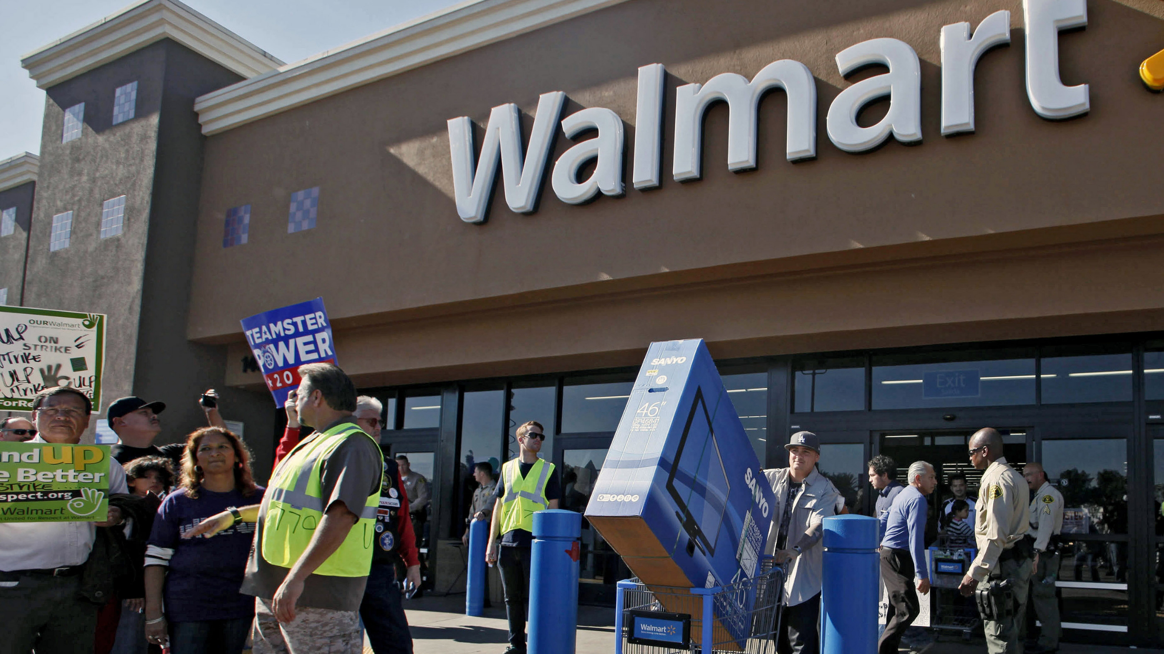 When Walmart announces a profit, it's also saying that people have disposable cash and are spending it.