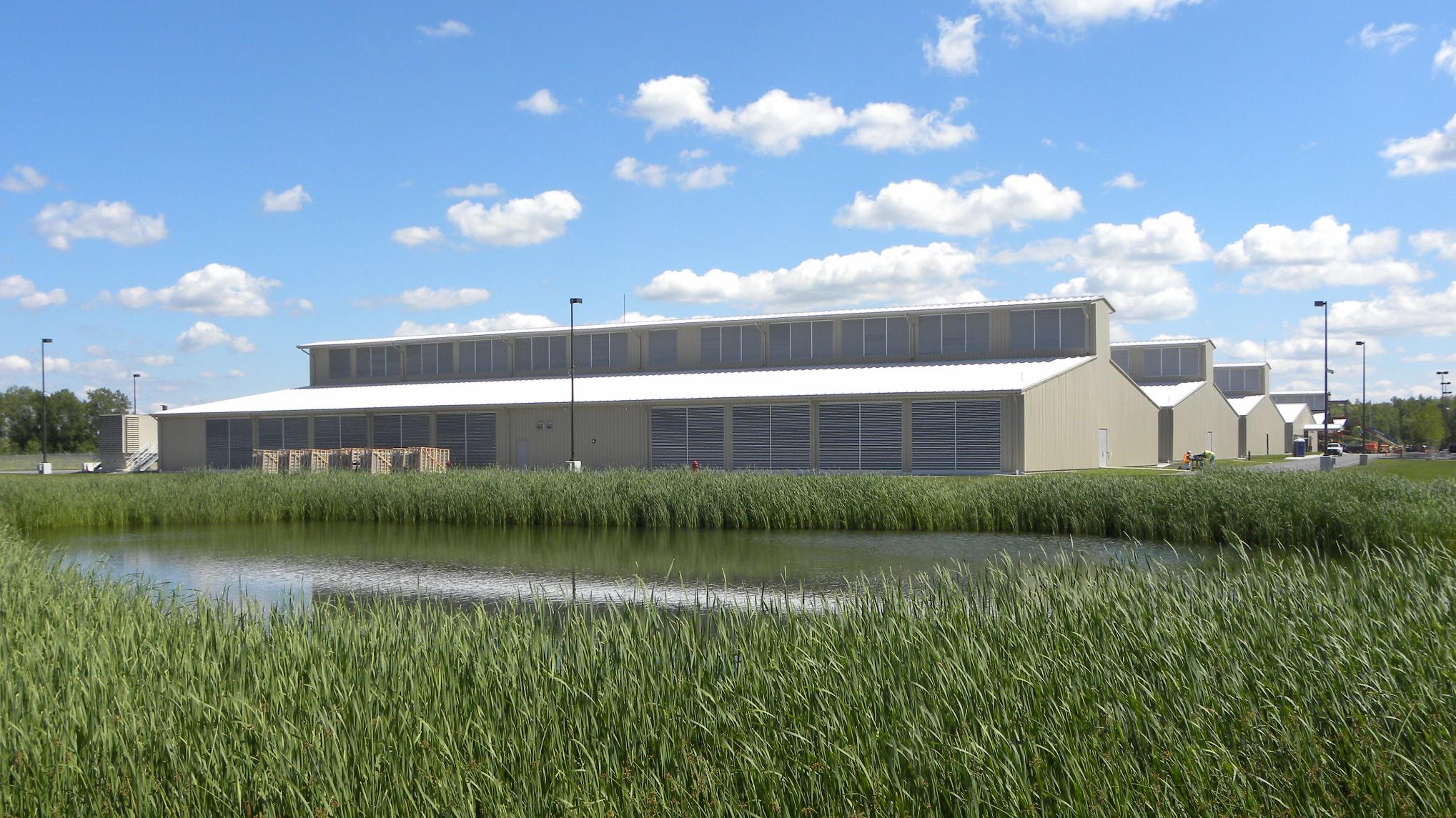 Yahoo data center in Lockport, New York