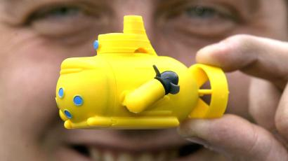 Yellow toy submarine.
