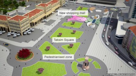Taksim square plans mall project turkey