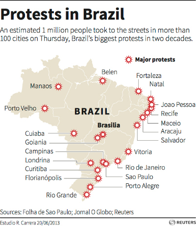 Brazil protest graphic