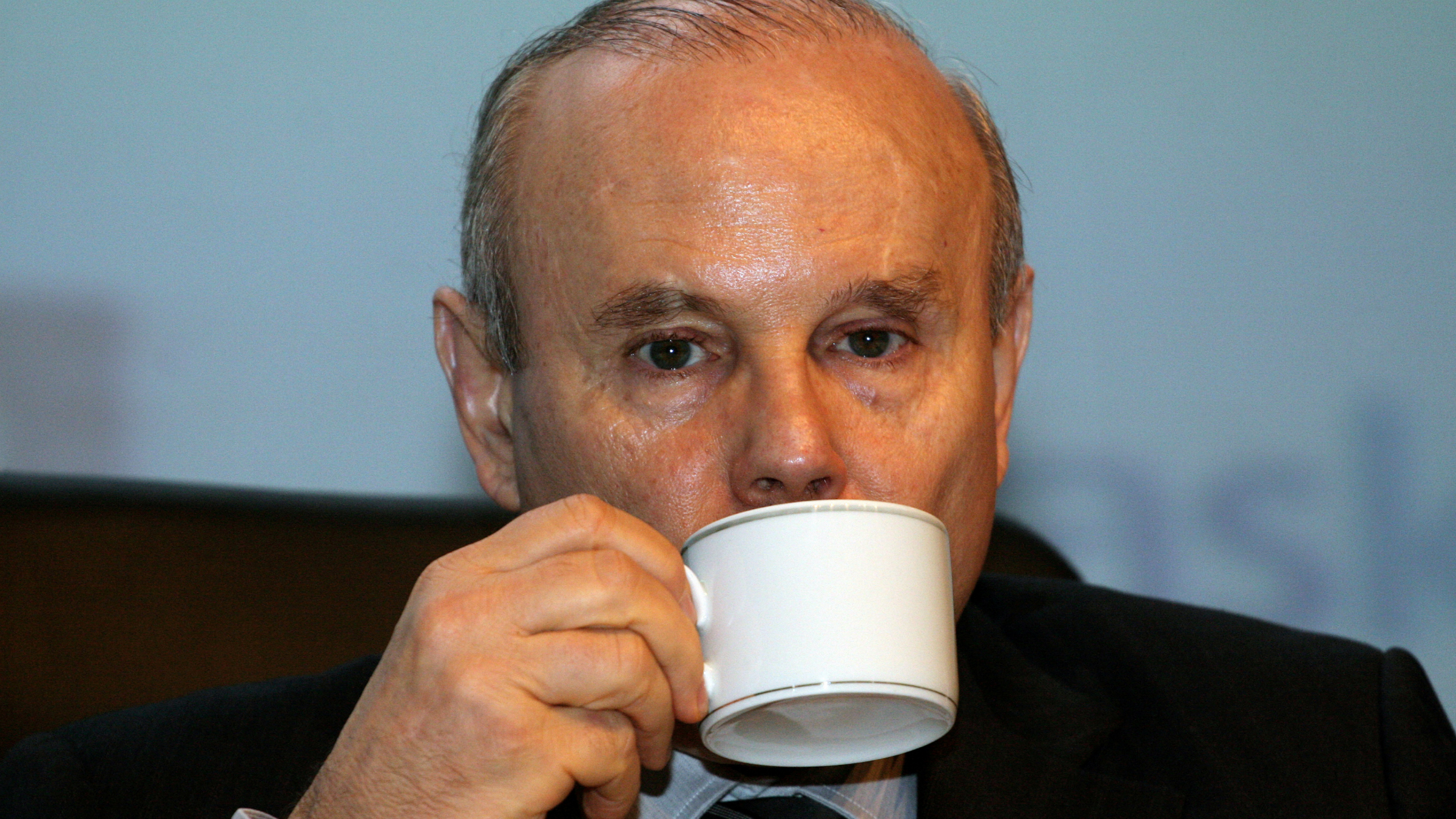 Brazilian Finance Minister Guido Mantega, hard at work.