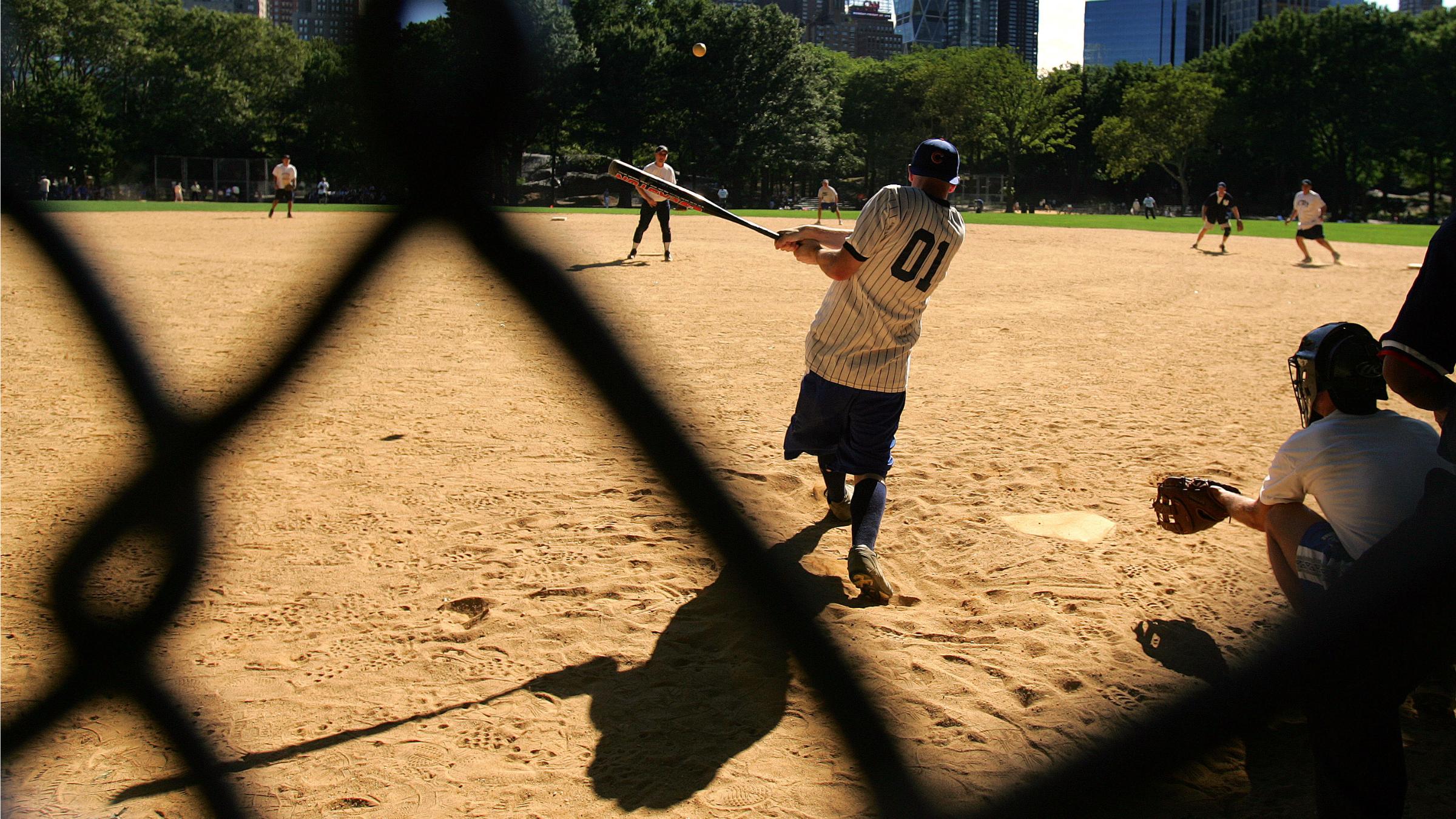 Corporate summer softball