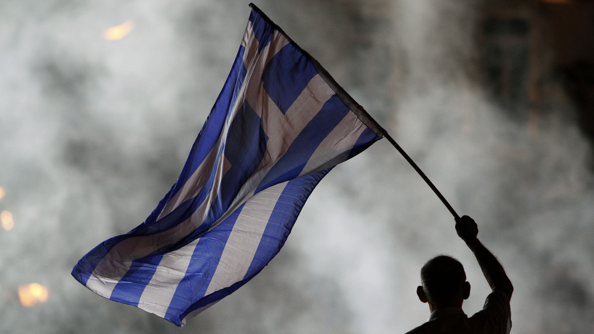 The white (and blue) flag of surrender.