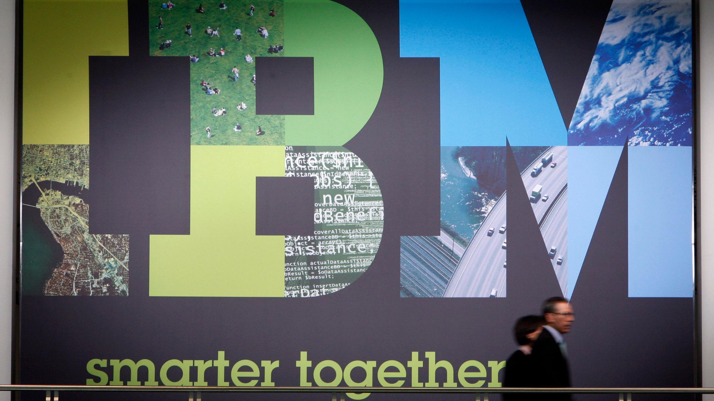 IBM's slogan: Smarter together.
