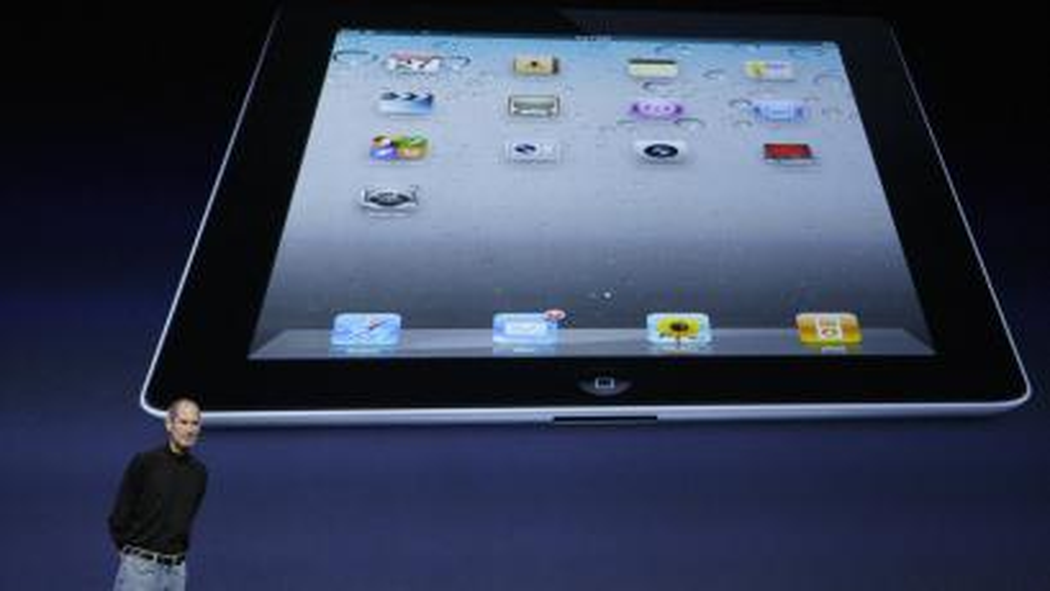Steve Jobs introducing the iPad 2.