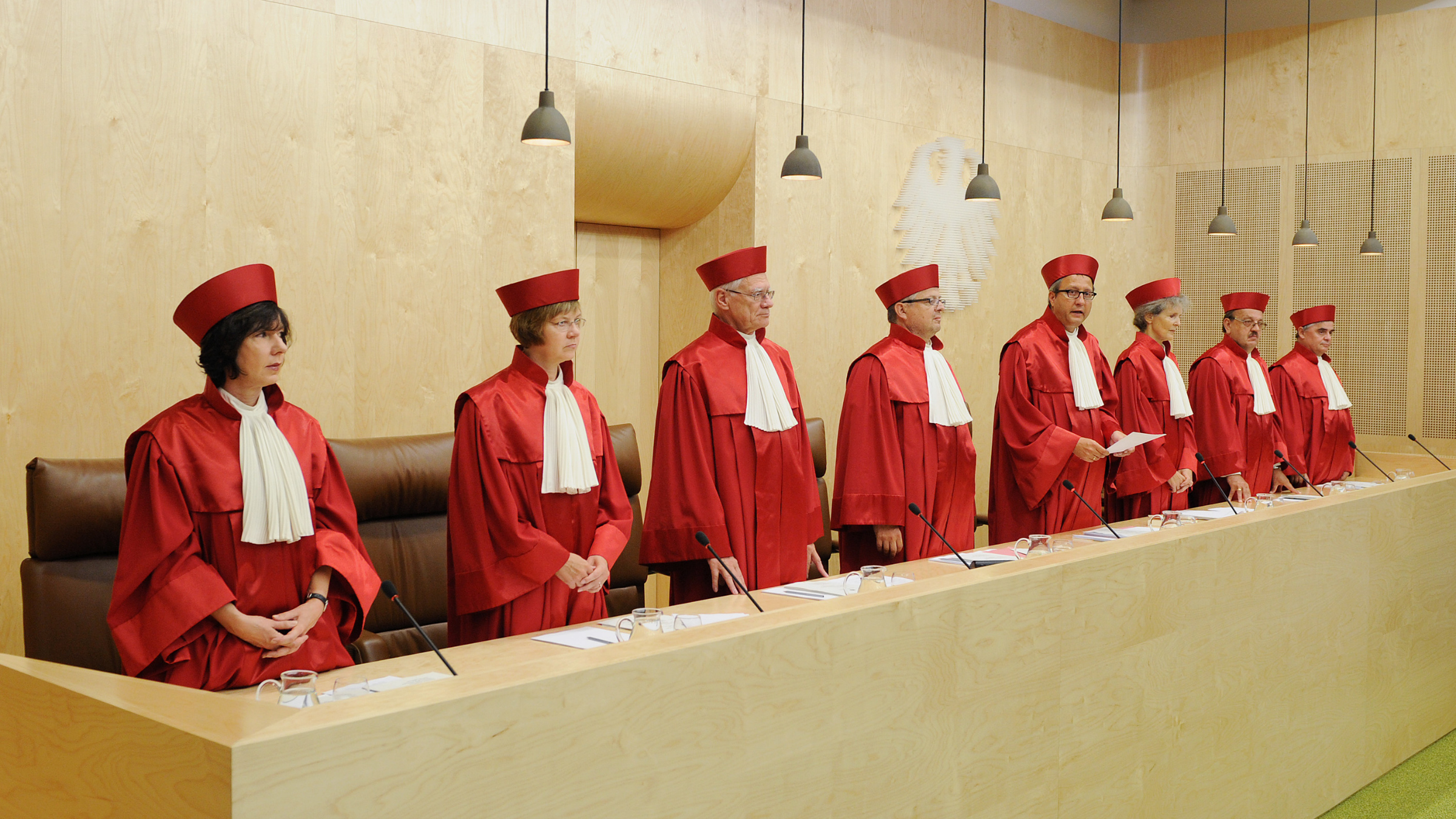 Judges of Germany's Constitutional Court.