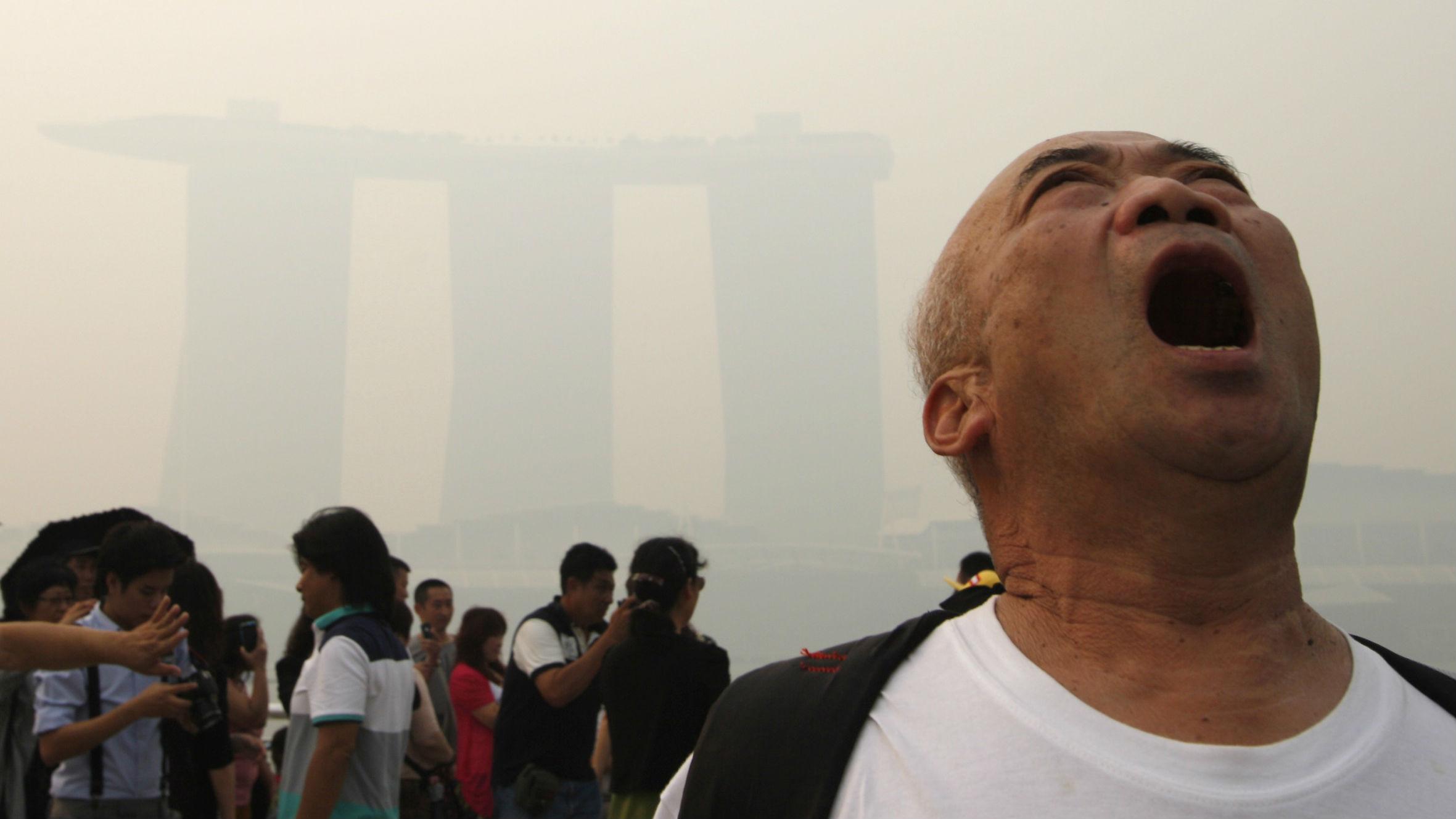 man yelling singapore poll web