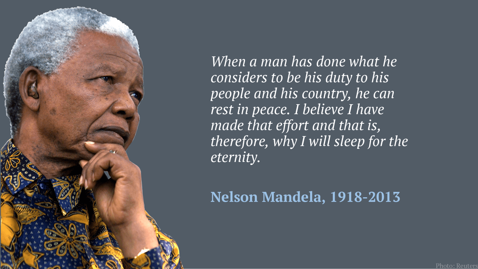 The wisdom of Nelson Mandela: quotes from the most inspiring