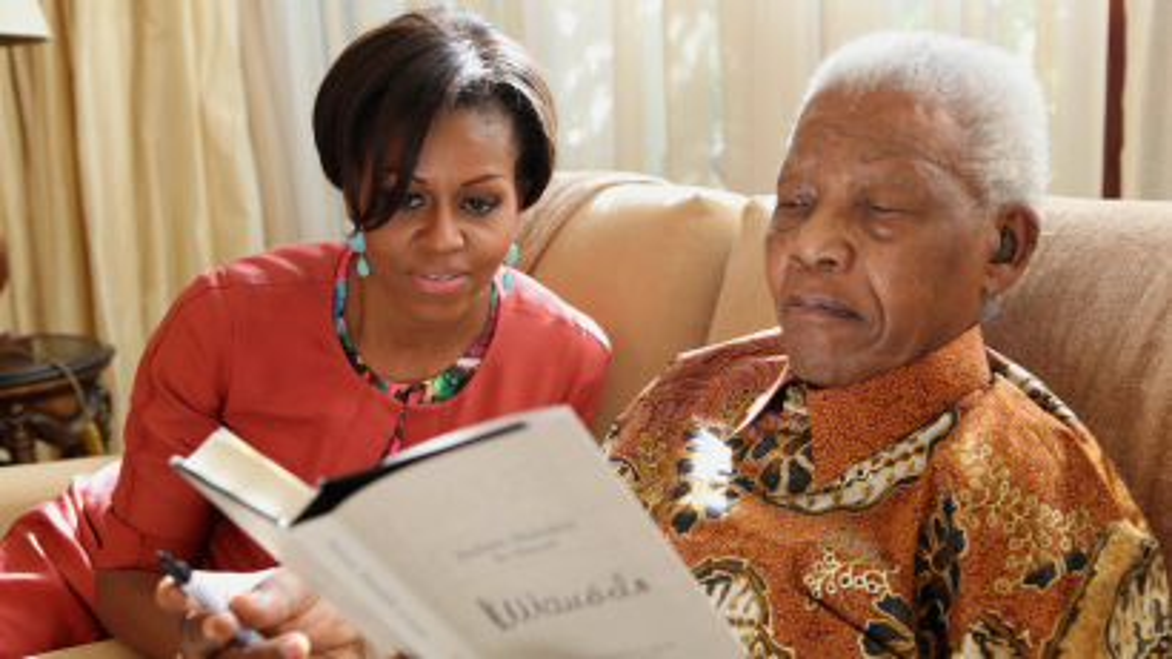 Nelson Mandela and Michelle Obama