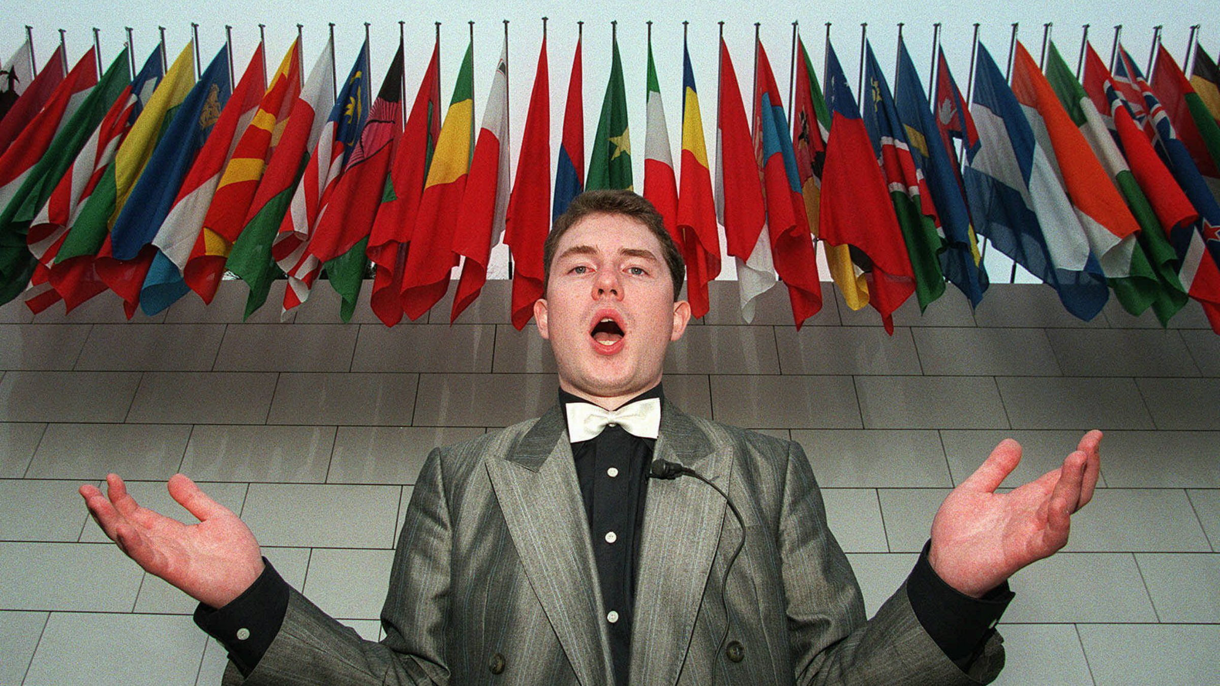 Multilingual Swiss singer Michel Sauser