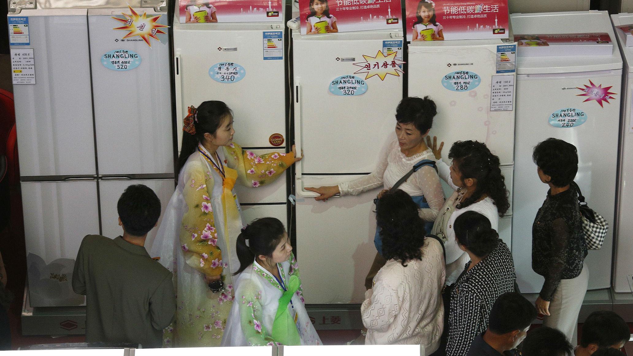 north korea fridges web