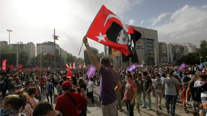 Protesters in Turkey