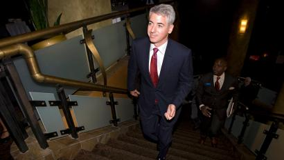 Bill Ackman, CEO of Pershing Square, arrives for annual meeting of Canadian Pacific Railway in Calgary.