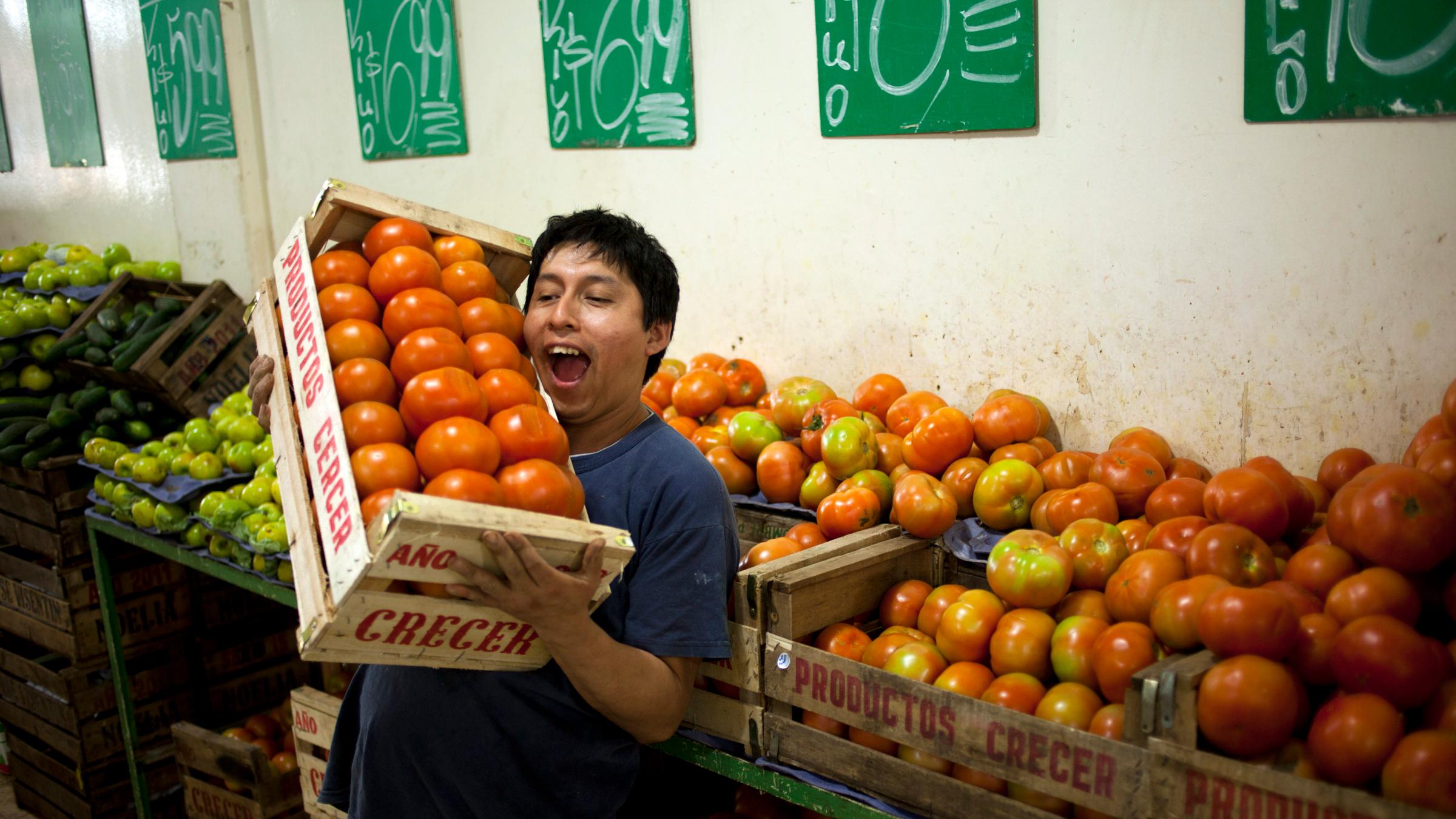 Argentina Supermarket tomatoes