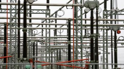 Parts of an electric power transformation substation are seen in Schwerin December 18, 2012.