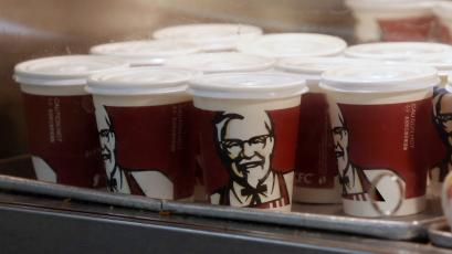 KFC's products are seen at its restaurant in Beijing February 25, 2013. Yum Brands Inc will tighten its monitoring of suppliers and improve testing of poultry as it aims to reverse a steep drop in business at its KFC restaurants in China after a chicken safety scare. REUTERS/Kim Kyung-Hoon