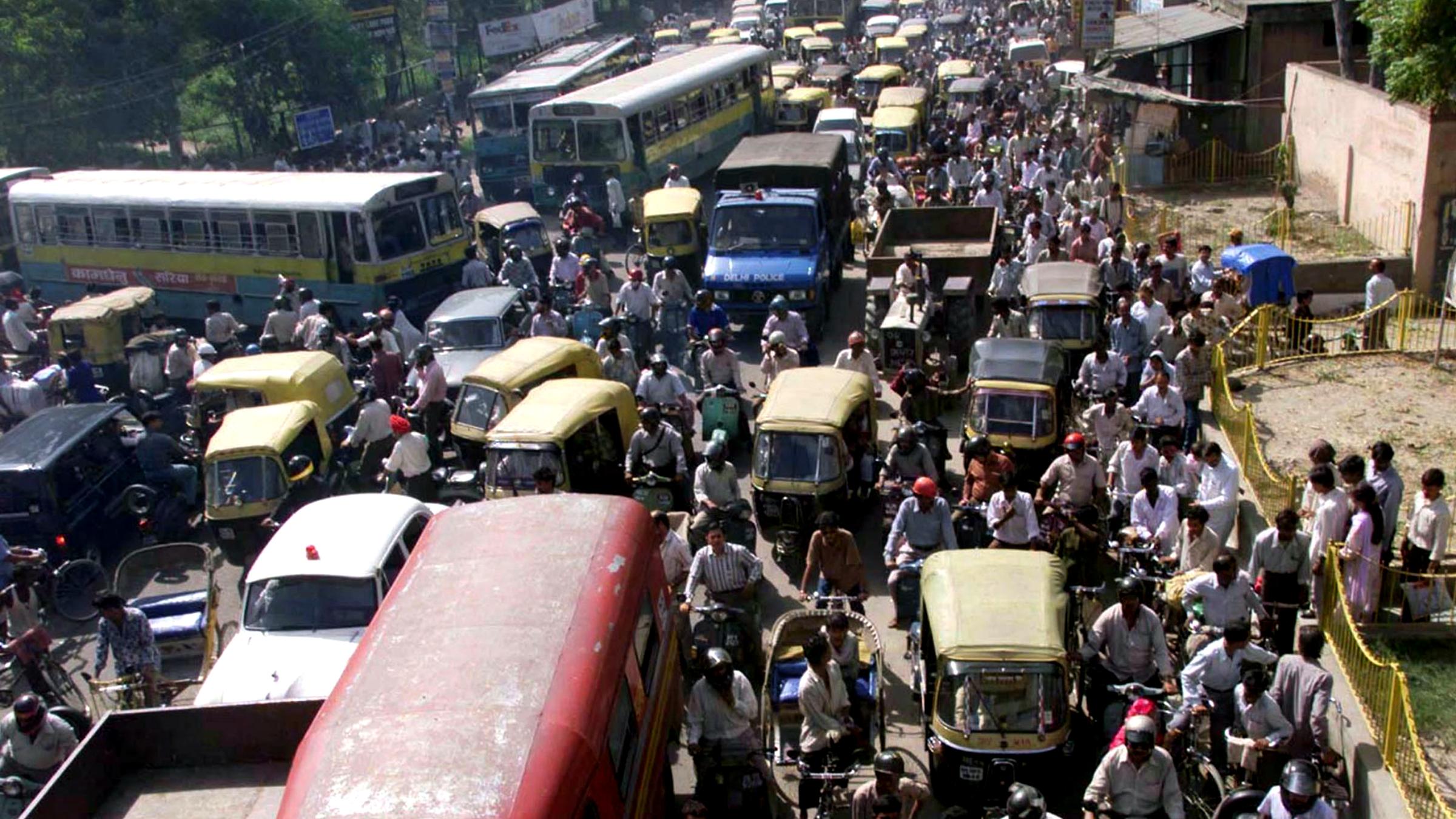 India New Delhi Traffic