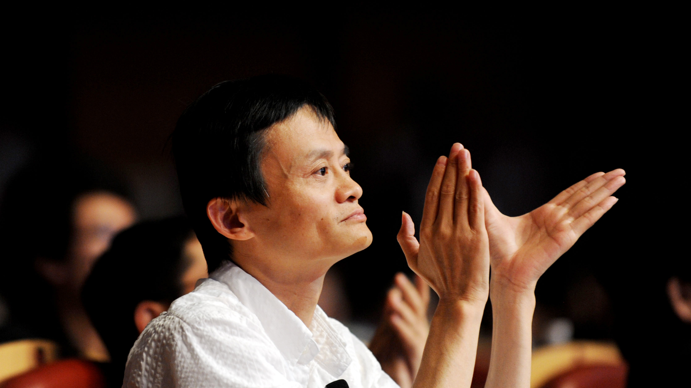Jack Ma (Ma Yun), Chairman of Alibaba Group, attends the 8th Netrepreneur Summit in Hangzhou city, east Chinas Zhejiang province, 10 September 2011. Chinas Alibaba Group aims for 1 trillion yuan (US$157 billion) in transaction volume next year on its Taobao platform, Alibaba Group chairman Jack Ma said on Saturday (10 September 2011) at the 8th Netrepreneur Summit in Hangzhou, capital of the eastern Chinese province of Zhejiang.(Imaginechina via AP Images