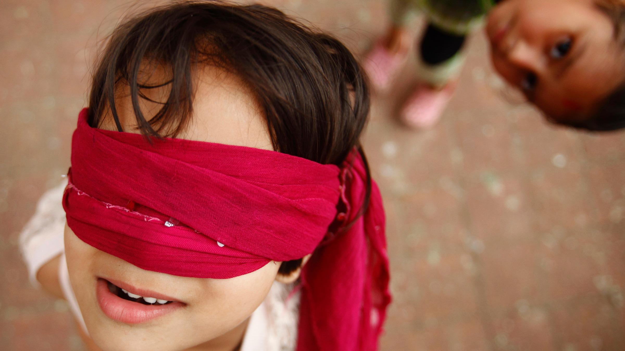 China economy blindfolded child