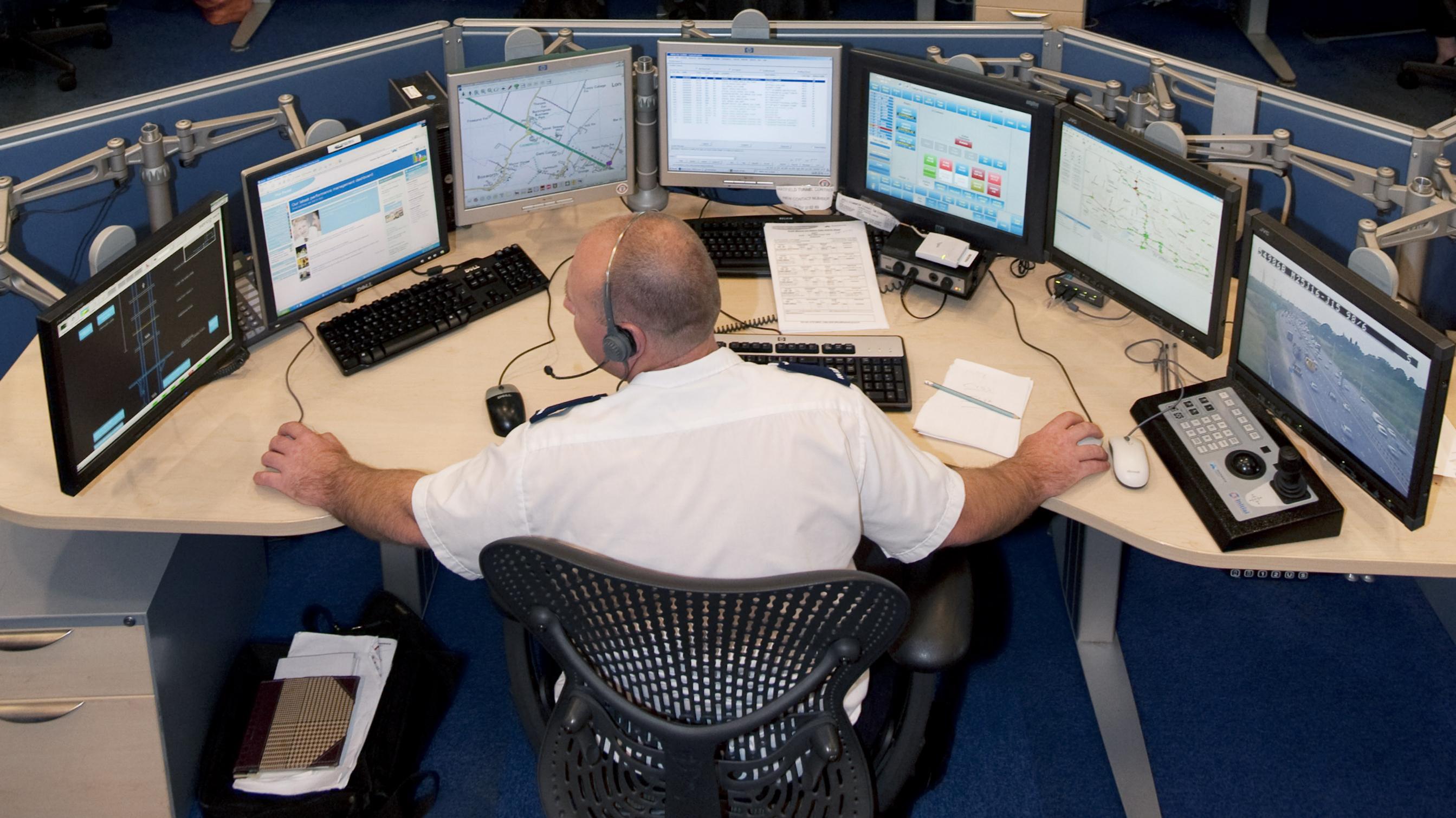 multiple seven screens monitors computer