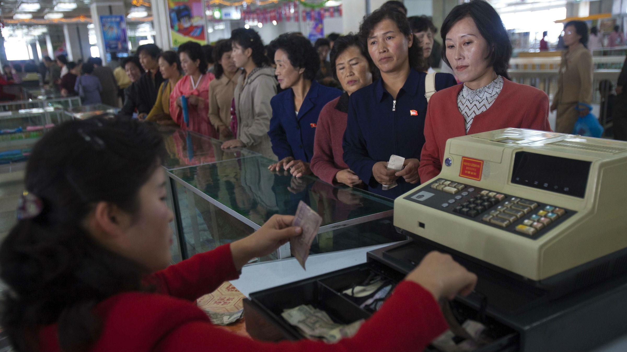 North Korean shoppers
