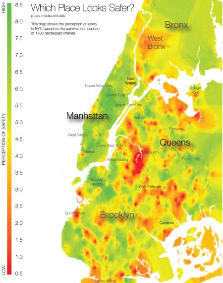 New York has a curious disparity between the safest looking neighborhoods and the sketchiest
